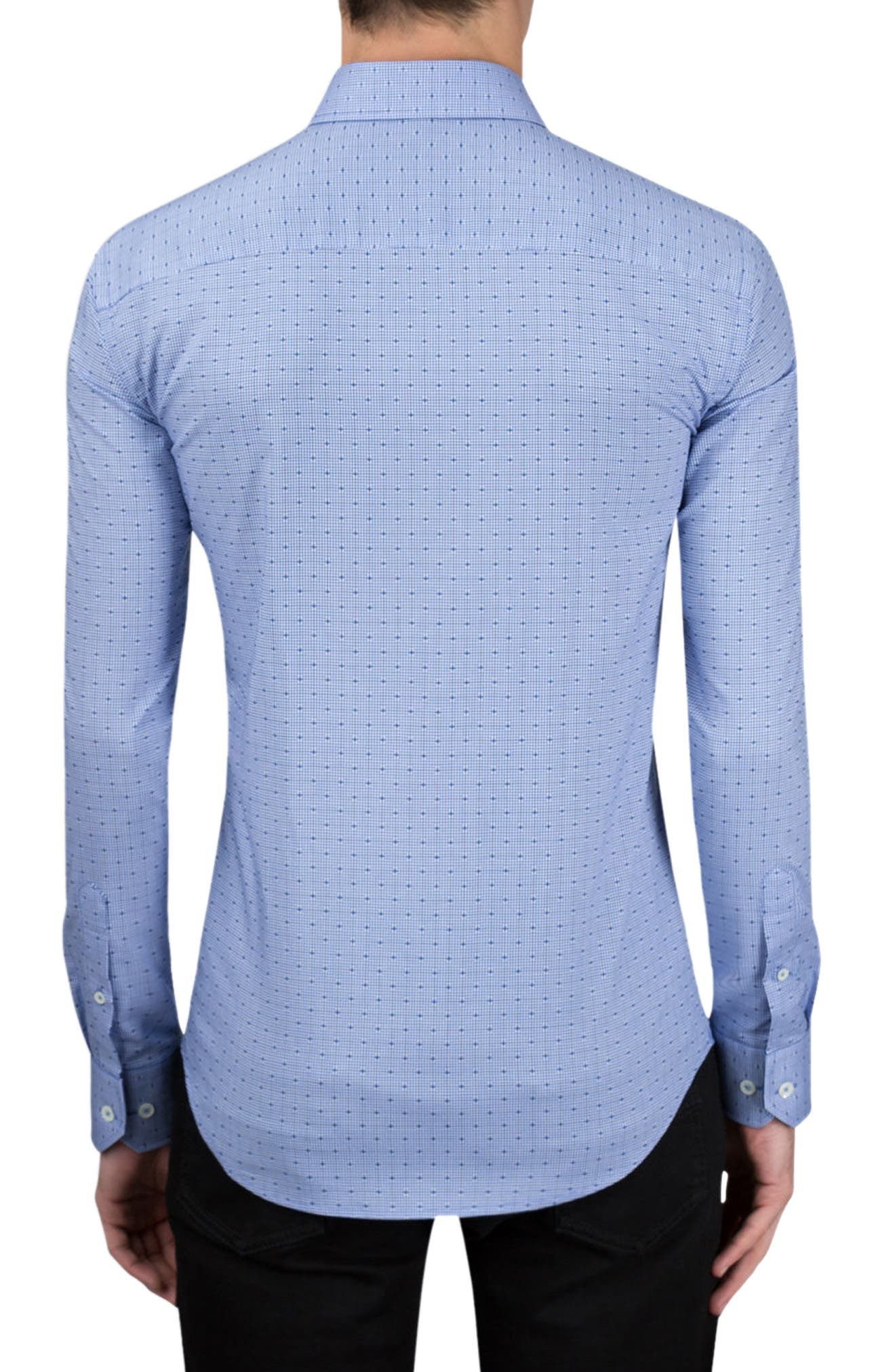 Alternate Image 2  - Bugatchi Classic Fit Layered Gingham Print Sport Shirt