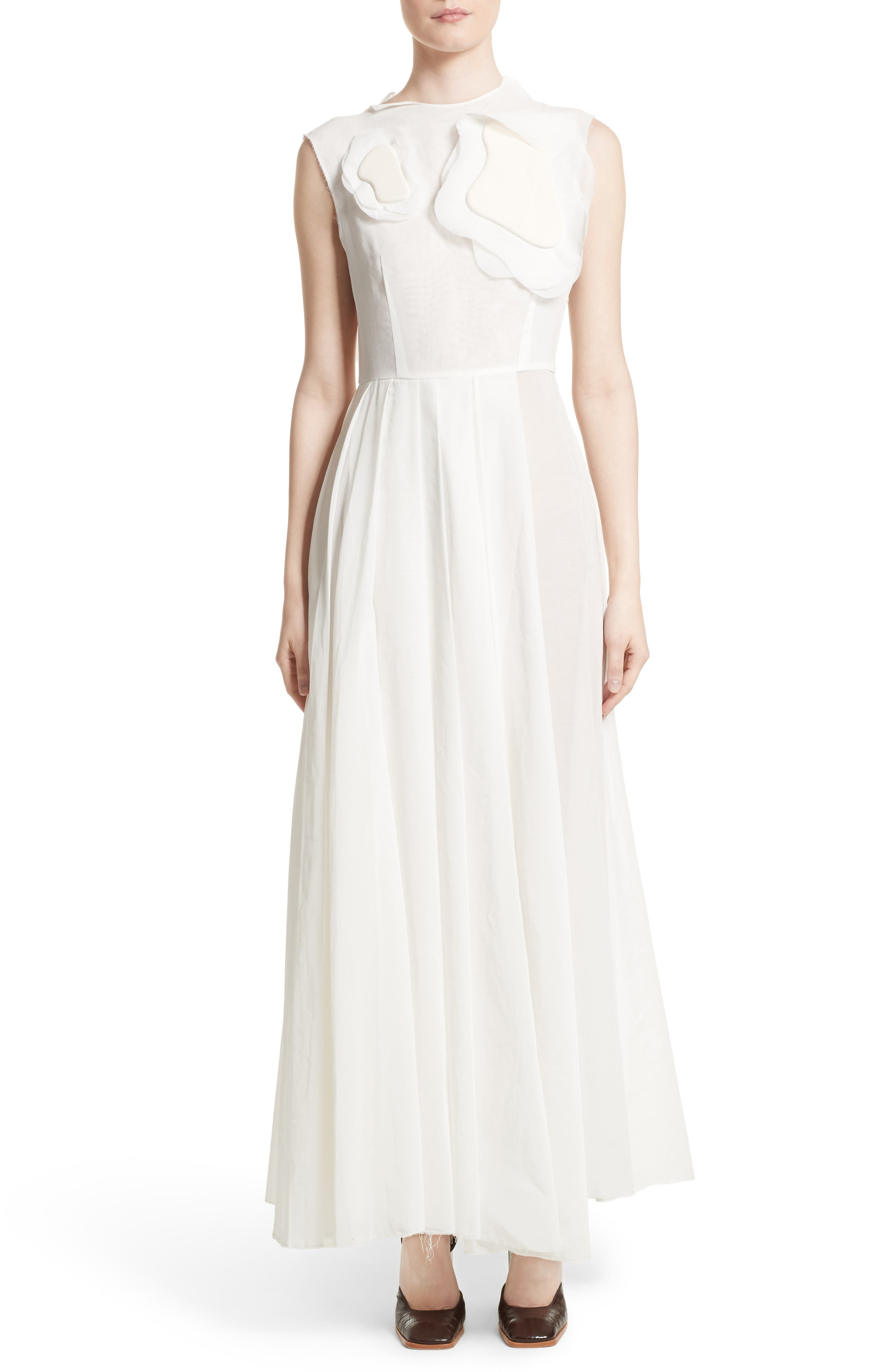 Double Layer Organdy Dress,                         Main,                         color, White