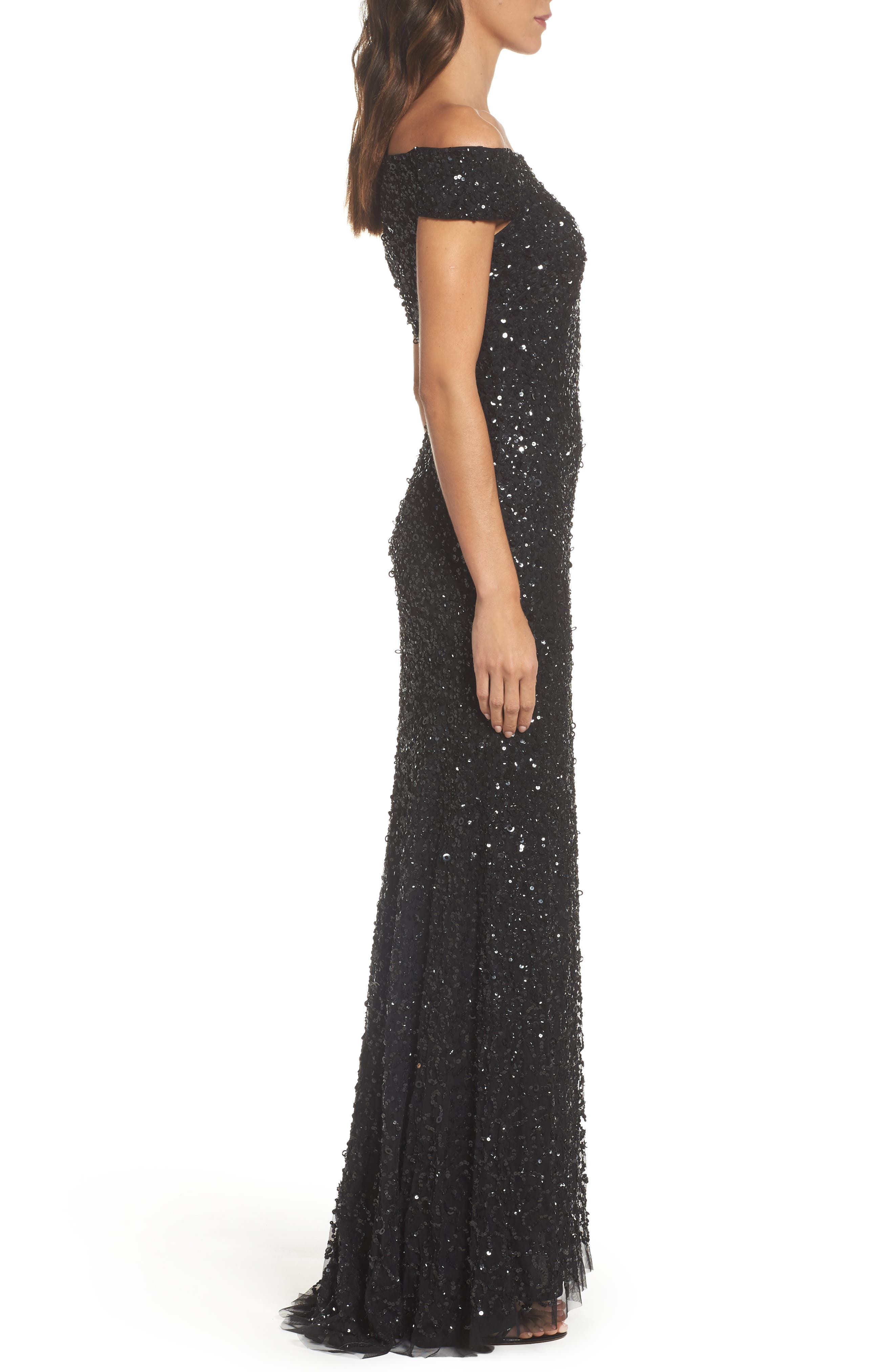 Alternate Image 3  - Adrianna Papell Sequin Mesh Gown