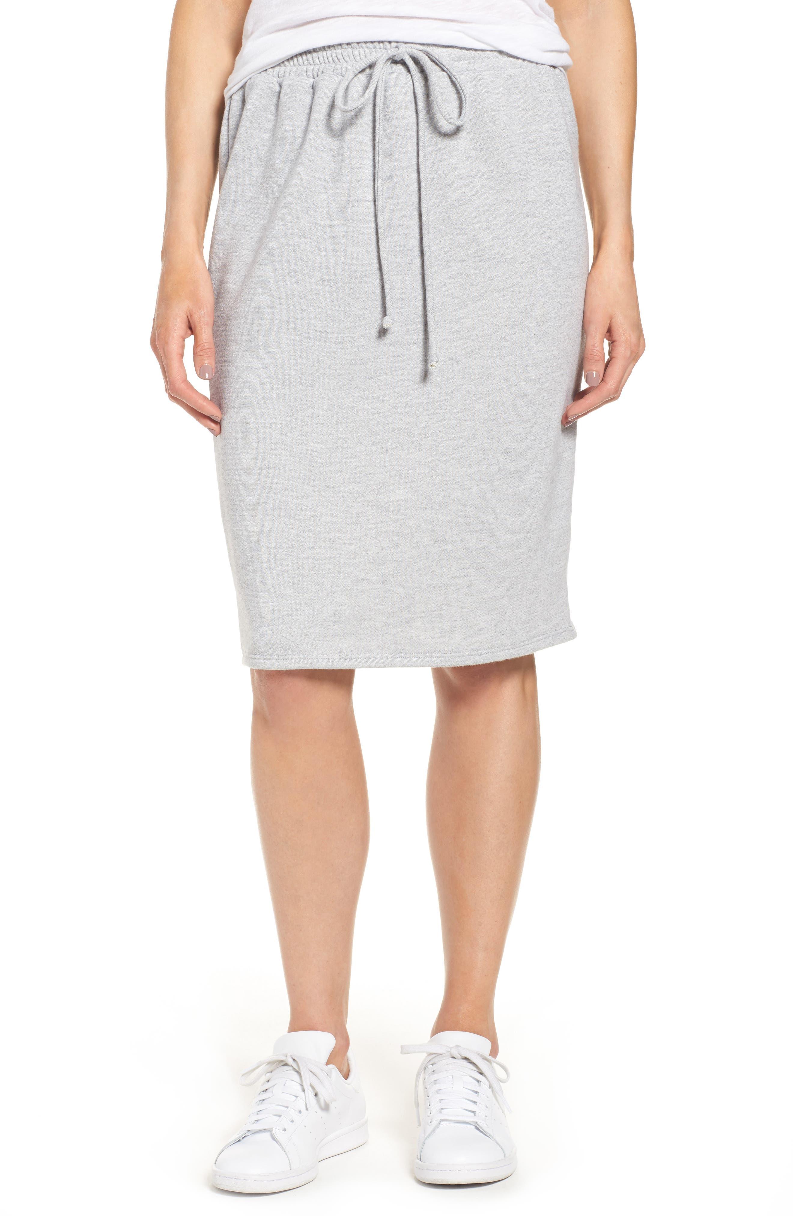 CASLON<SUP>®</SUP> Fleece Sweatshirt Skirt