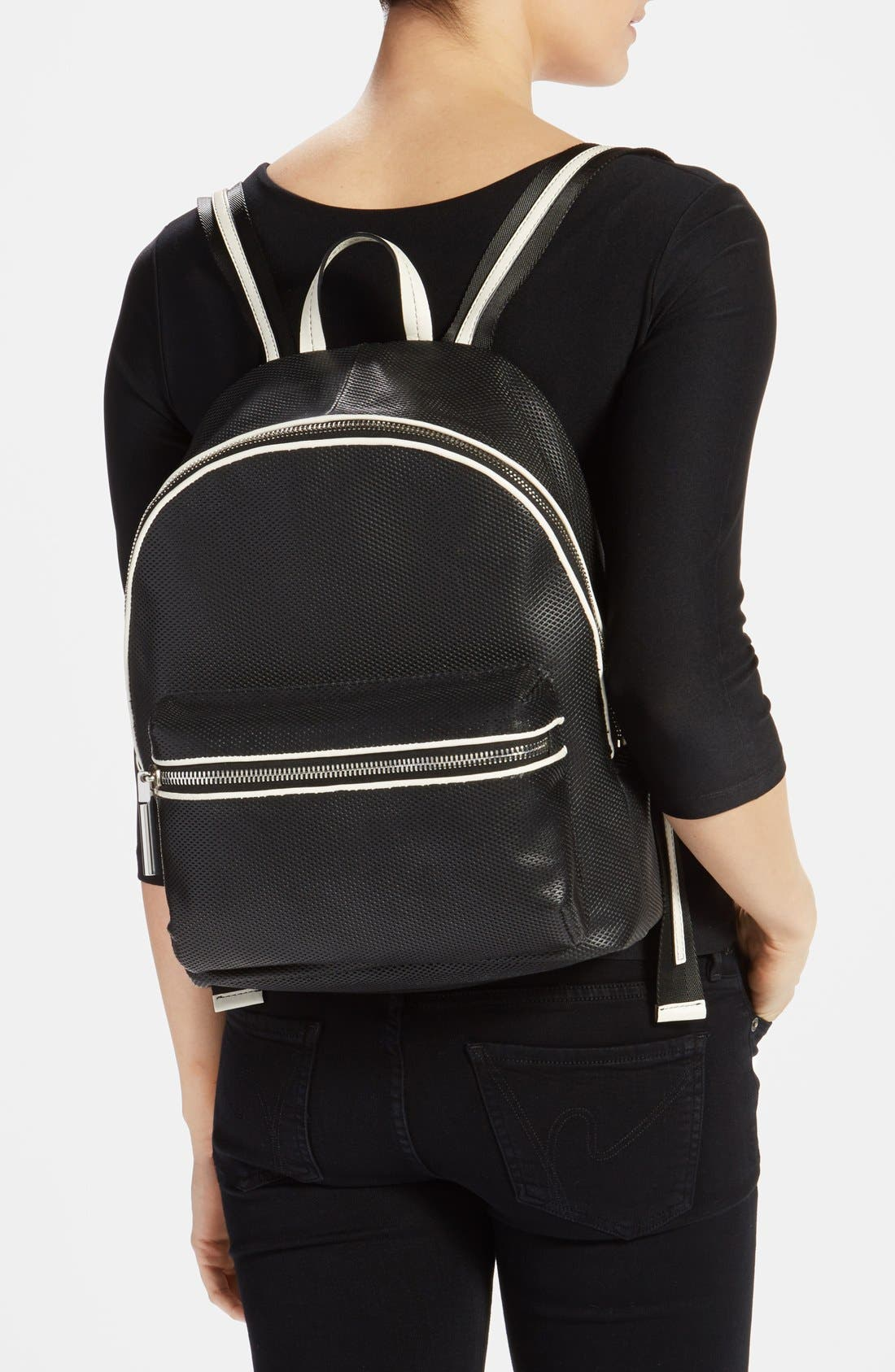 Alternate Image 2  - Elizabeth and James 'Cynnie' Perforated Leather Backpack