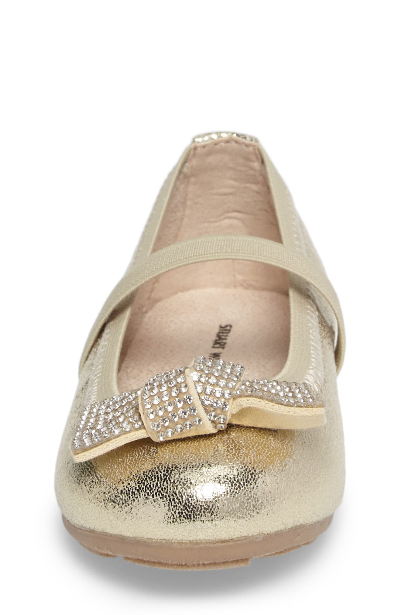Fannie Glitz Mary Jane,                             Alternate thumbnail 4, color,                             Champagne Gold Faux Leather