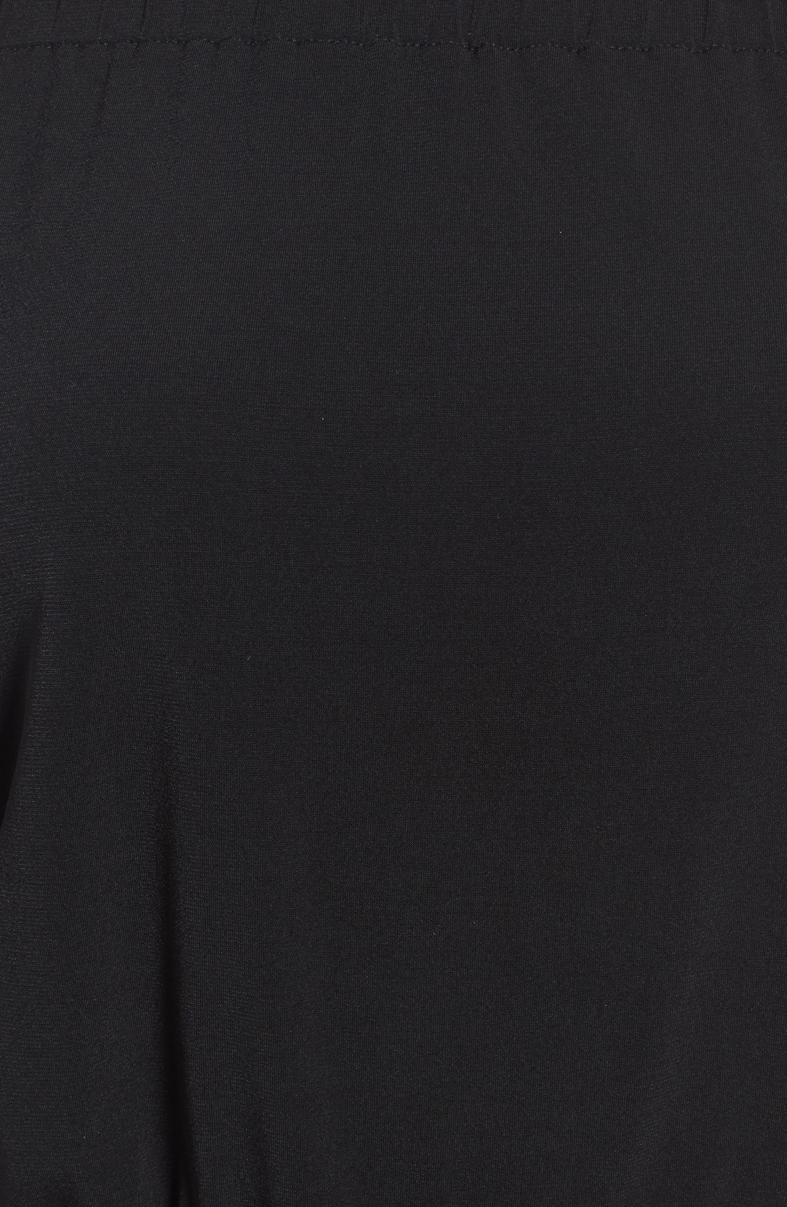Shay Off the Shoulder Crop Jumpsuit,                             Alternate thumbnail 5, color,                             Black