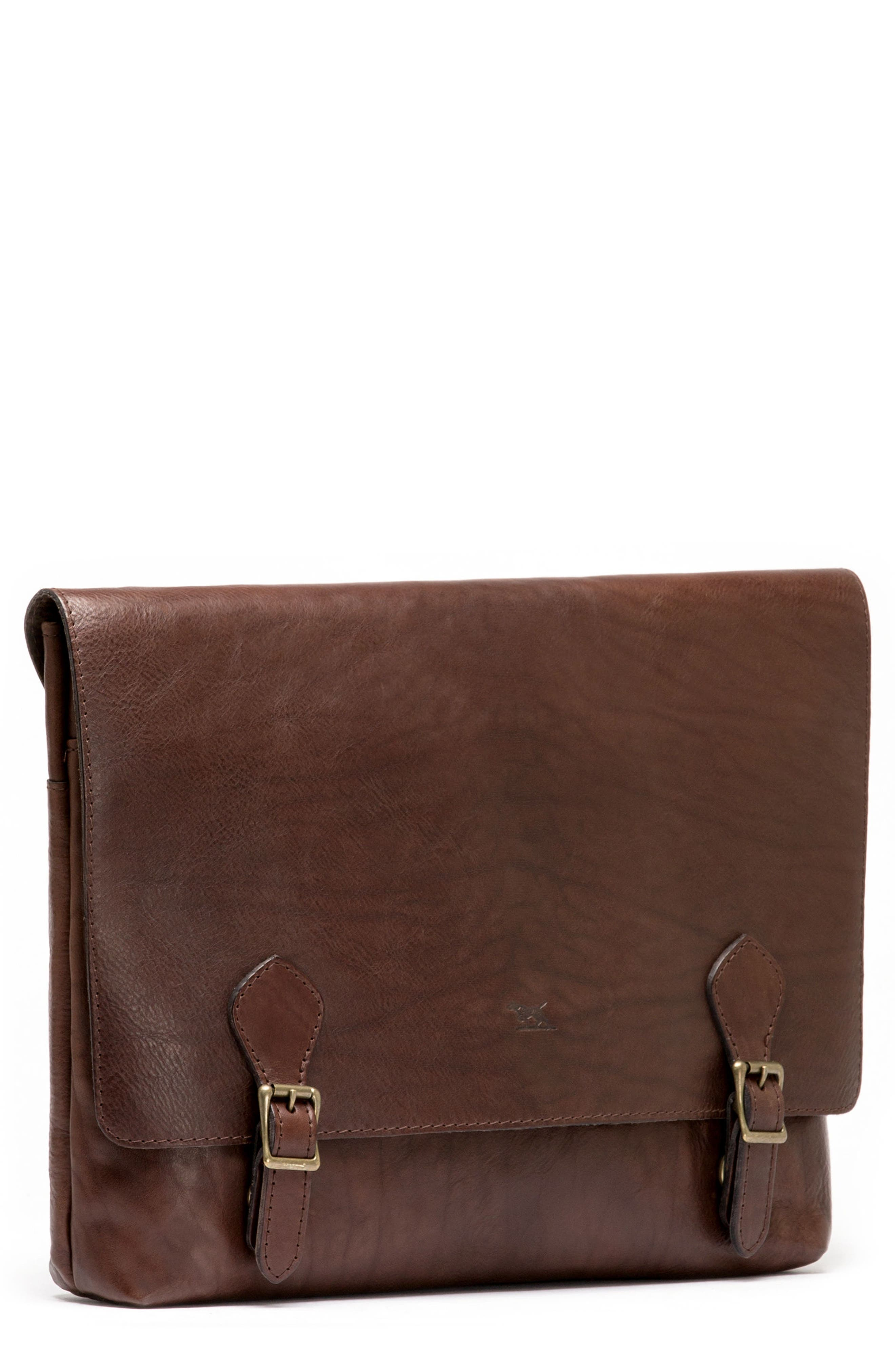 Woodstock Leather Satchel,                             Alternate thumbnail 8, color,                             Cocoa