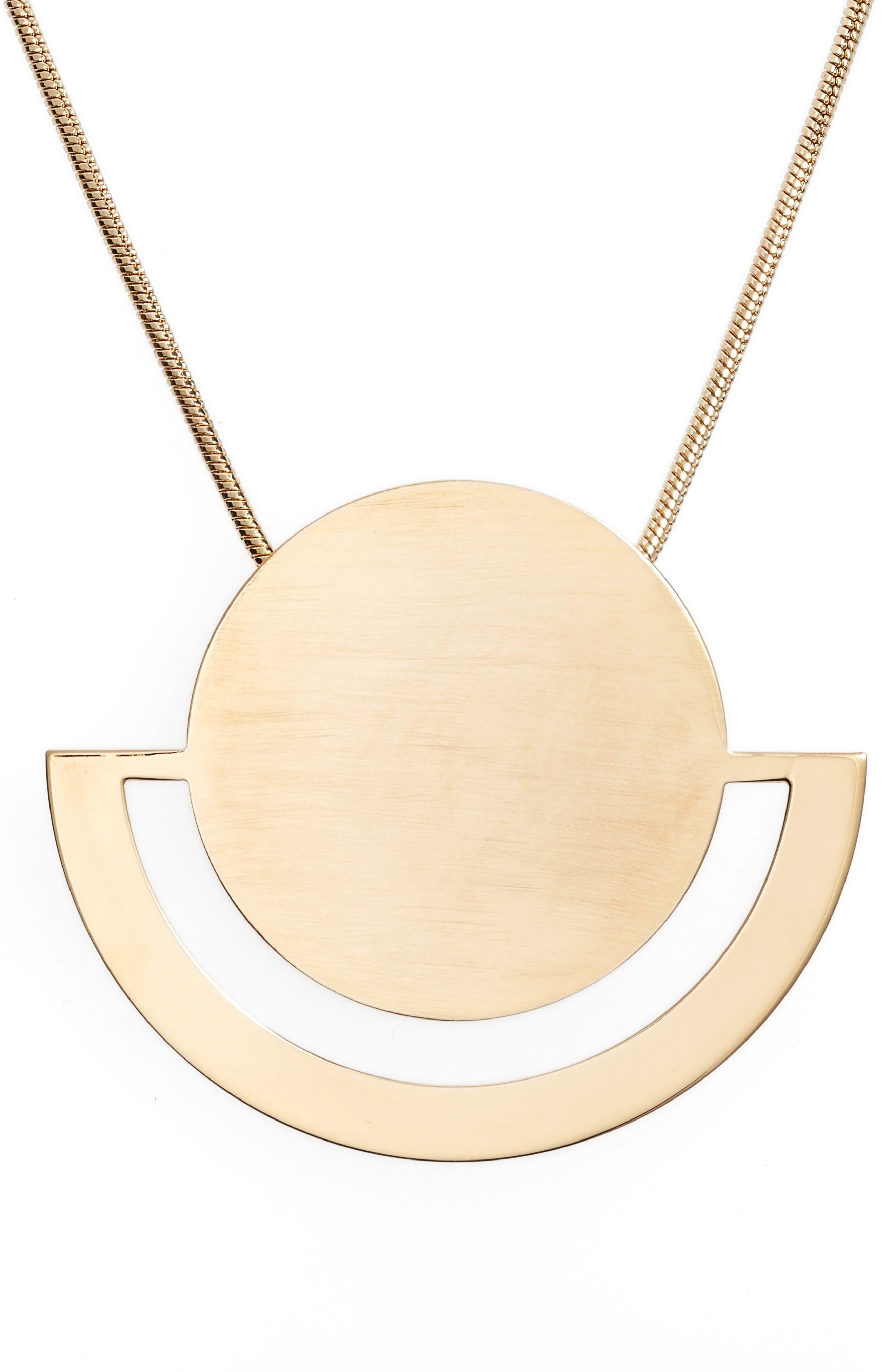 HALOGEN<SUP>®</SUP> Horizon Disc Pendant Necklace