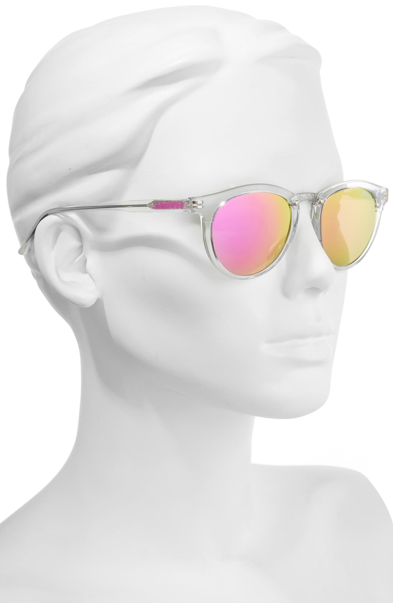 Questa 49mm Mirrored Lens Sunglasses,                             Alternate thumbnail 2, color,                             Crystal/ Pink