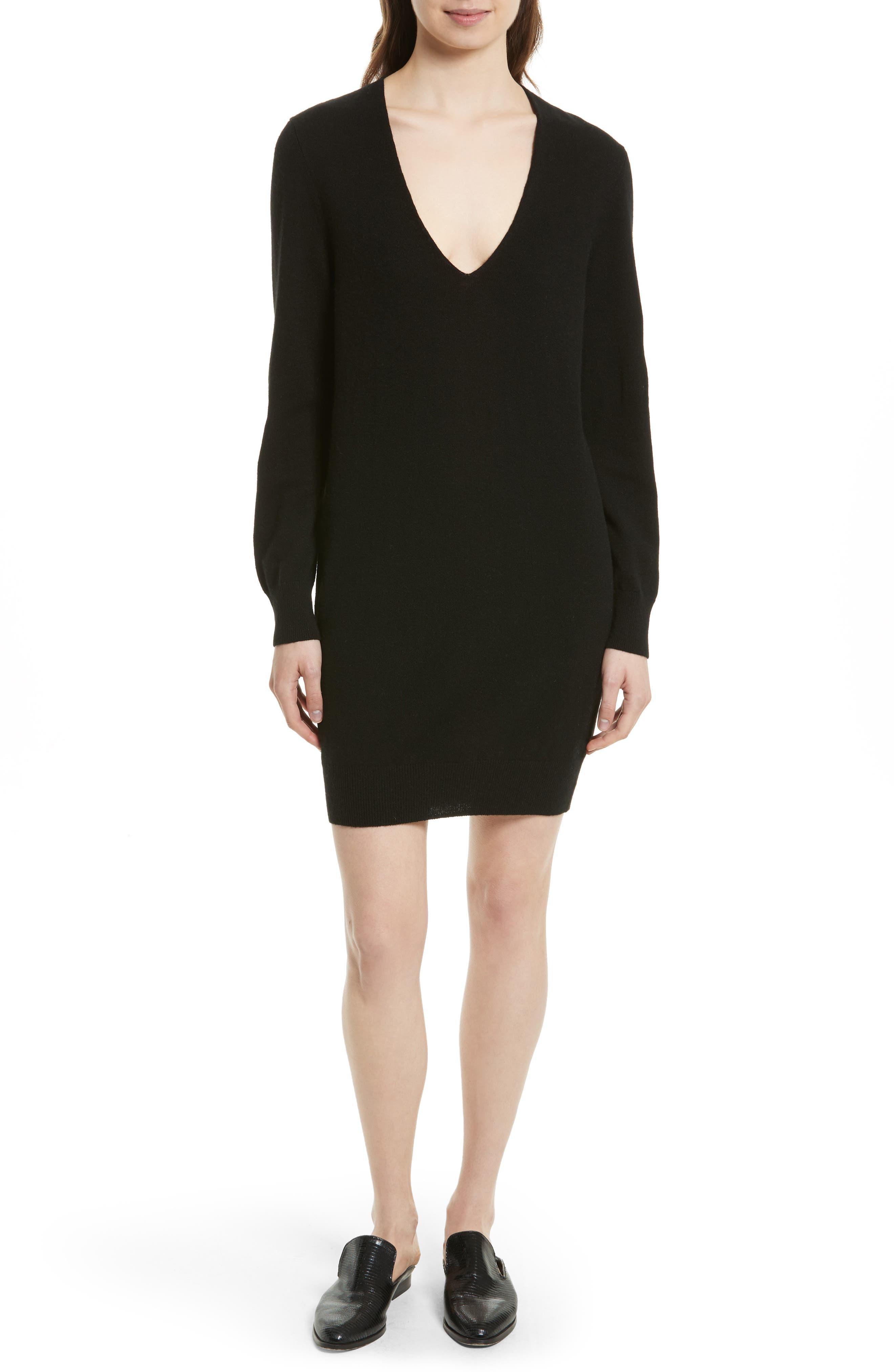 Alternate Image 1 Selected - Equipment Rosemary V-Neck Cashmere Sweater Dress