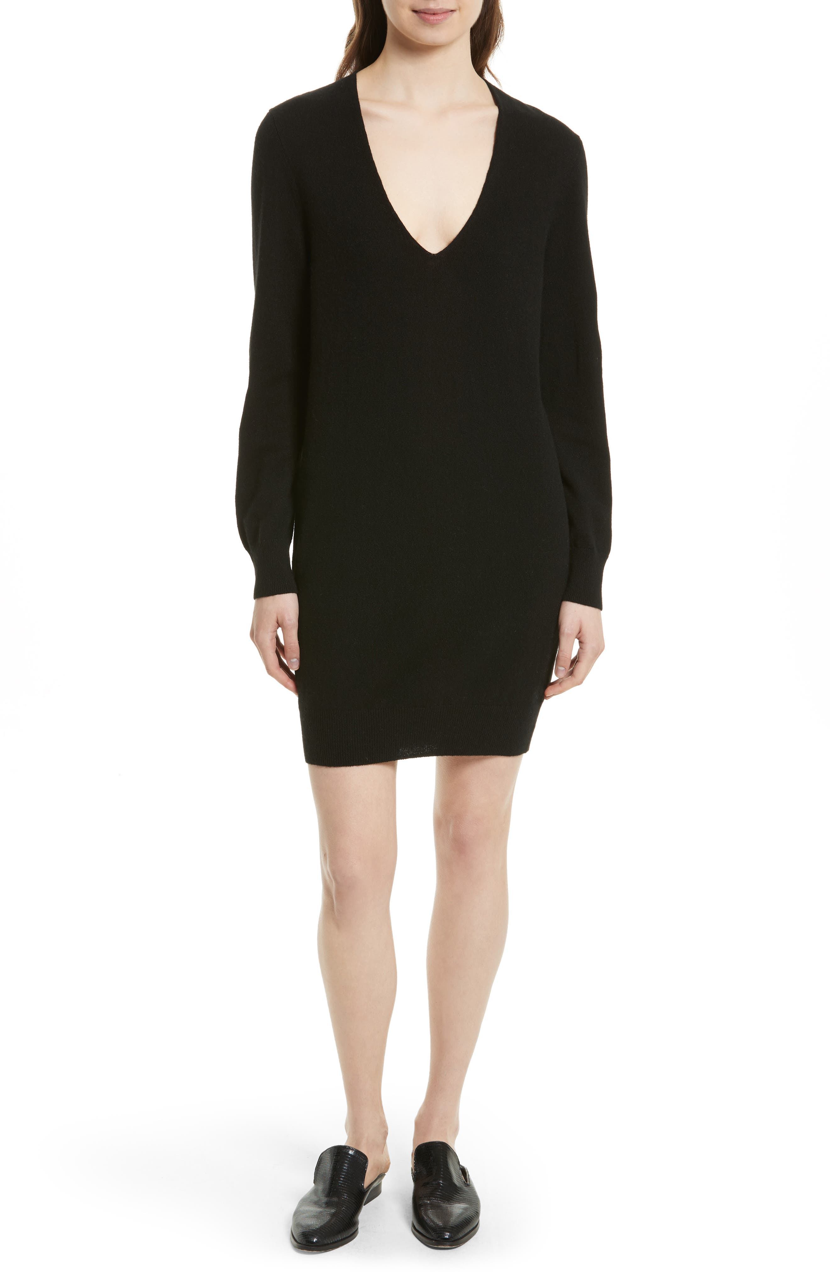 Main Image - Equipment Rosemary V-Neck Cashmere Sweater Dress