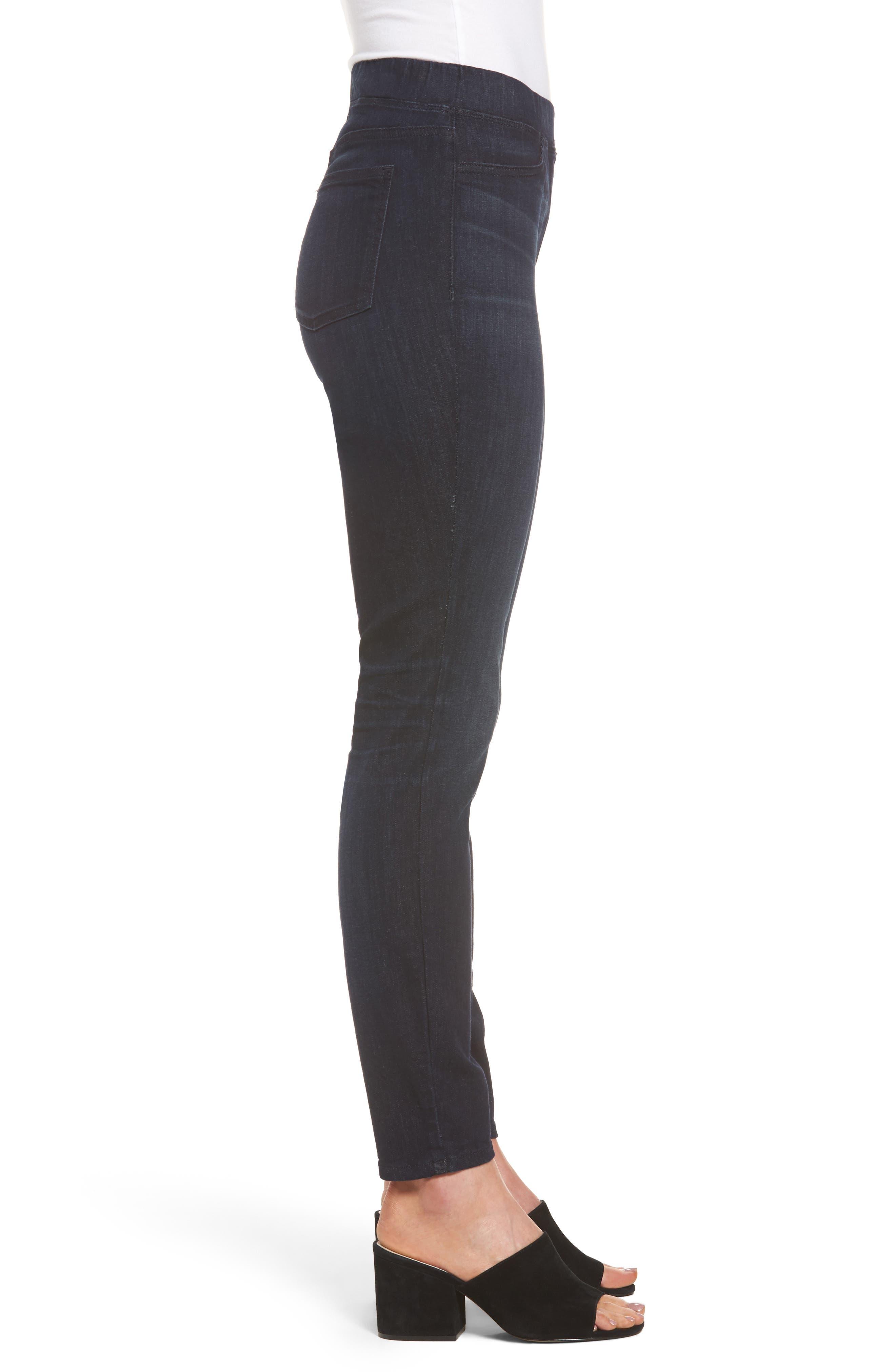 Alternate Image 3  - Eileen Fisher Stretch Denim Leggings (Regular & Petite)