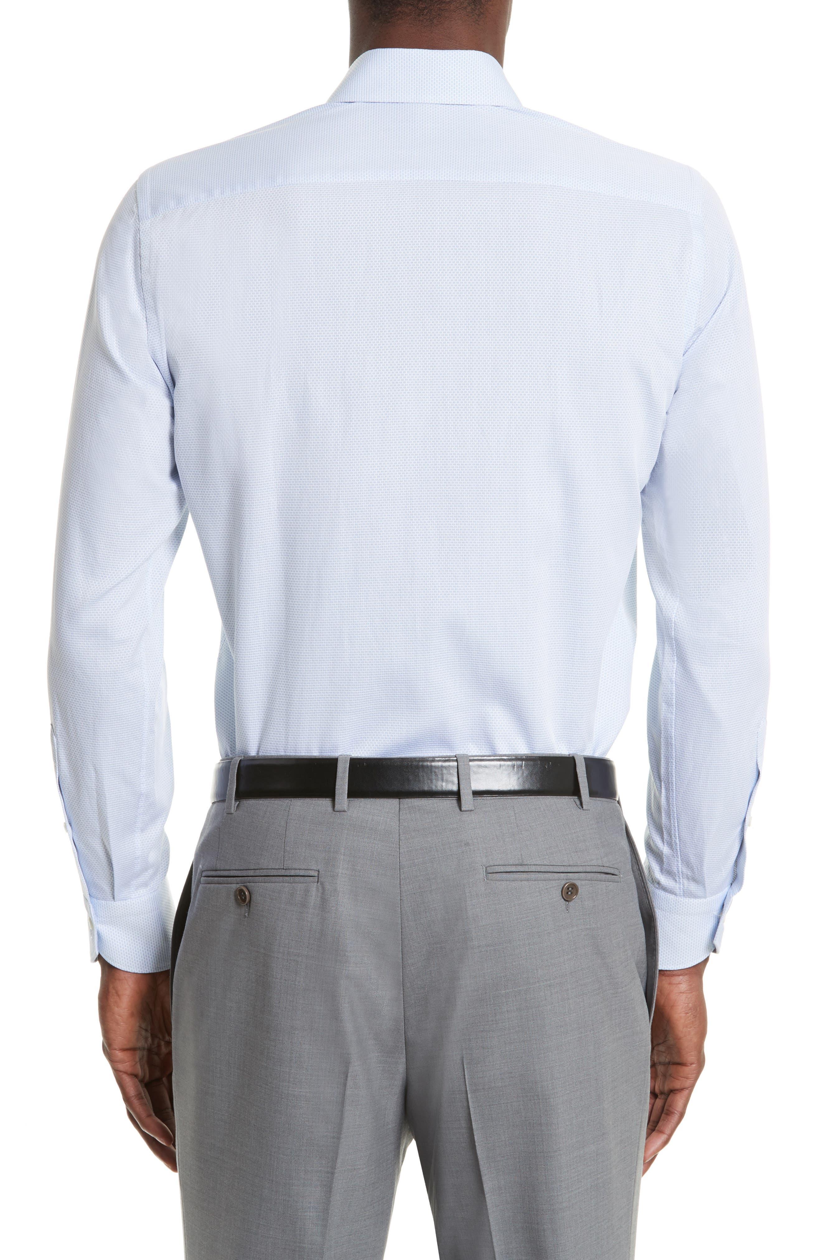 Regular Fit Solid Dress Shirt,                             Alternate thumbnail 3, color,                             Light Blue
