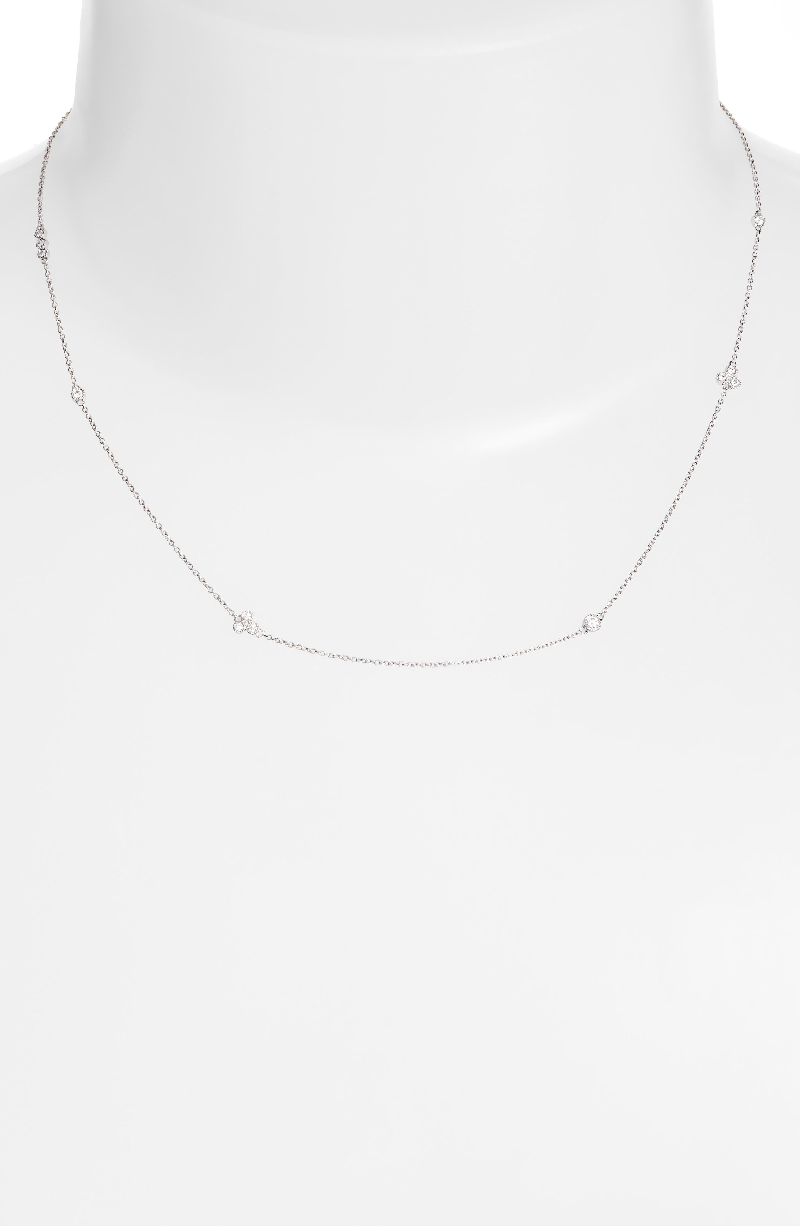Main Image - Bony Levy Harlowe Short Diamond Station Necklace (Nordstrom Exclusive)