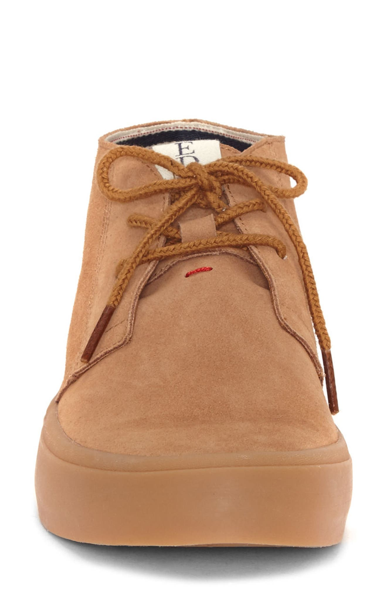 Dax Chukka Sneaker,                             Alternate thumbnail 4, color,                             Honey Suede