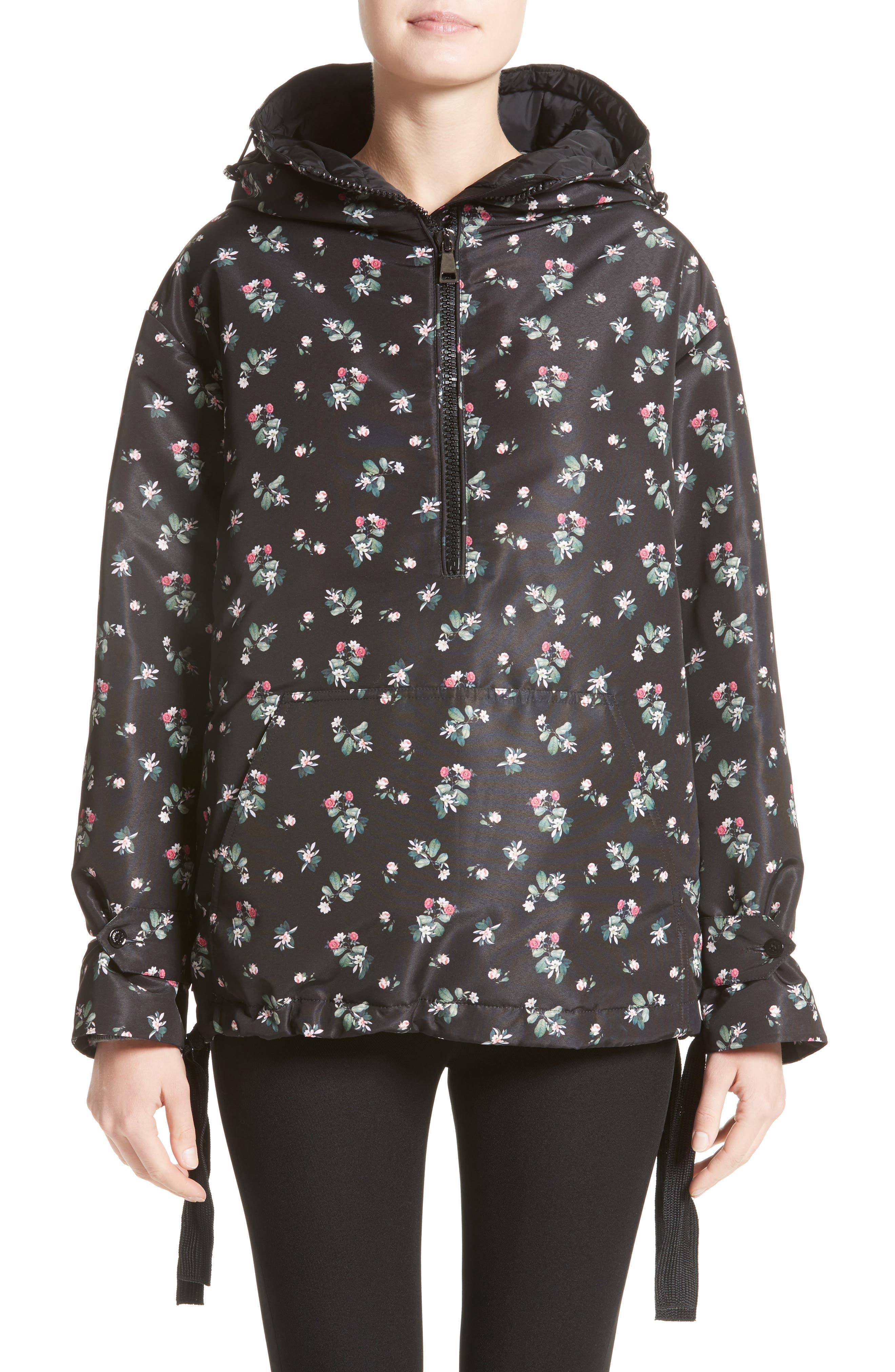 Main Image - Moncler Mirtus Floral Print Down Jacket