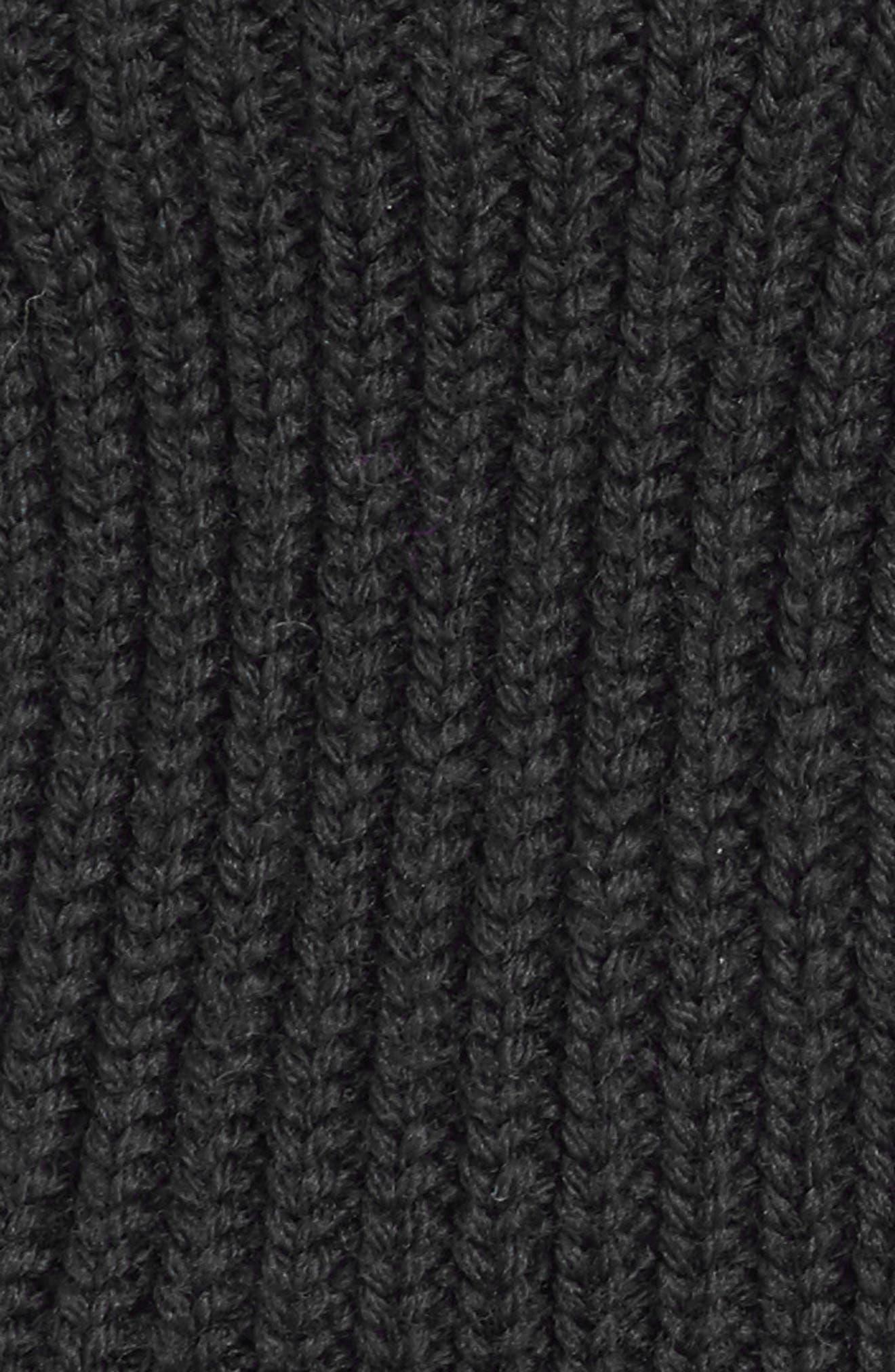 Guanti Wool Long Fingerless Gloves,                             Alternate thumbnail 3, color,                             Black