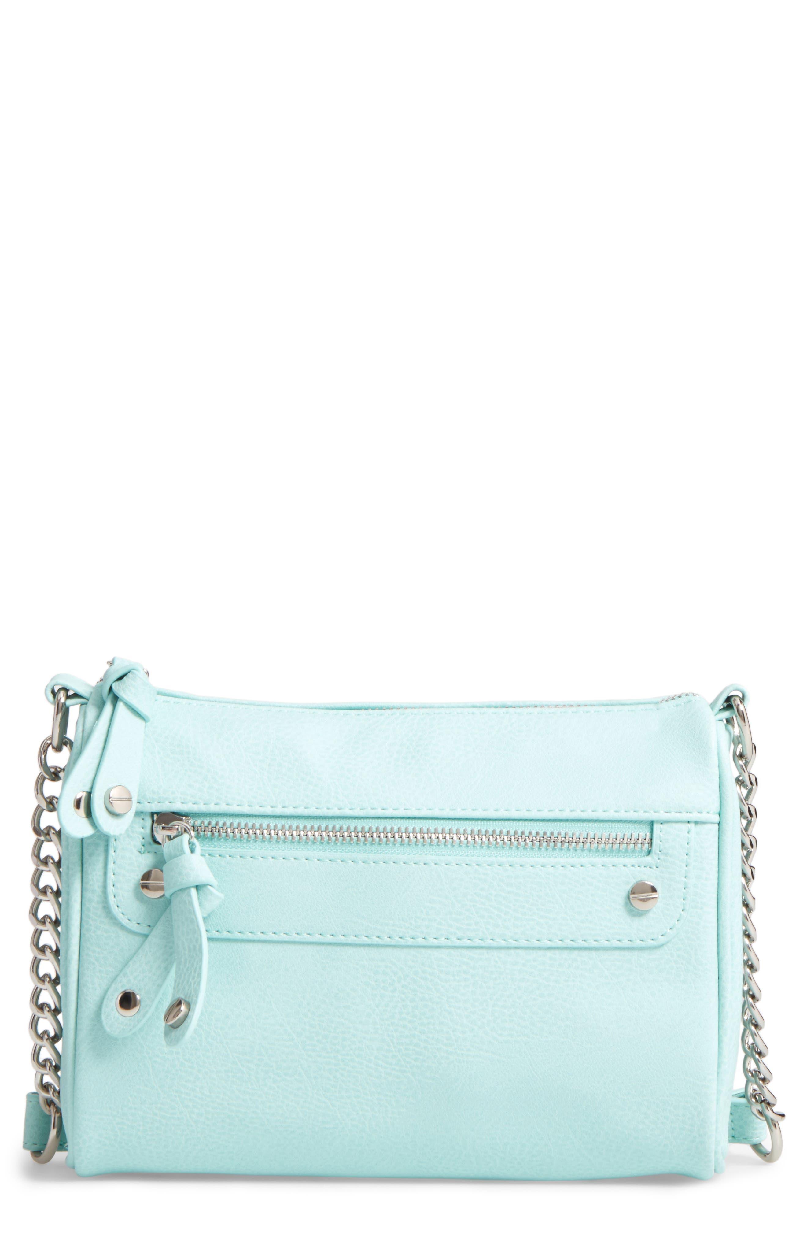 Double Stud Crossbody Bag,                             Main thumbnail 1, color,                             Mint