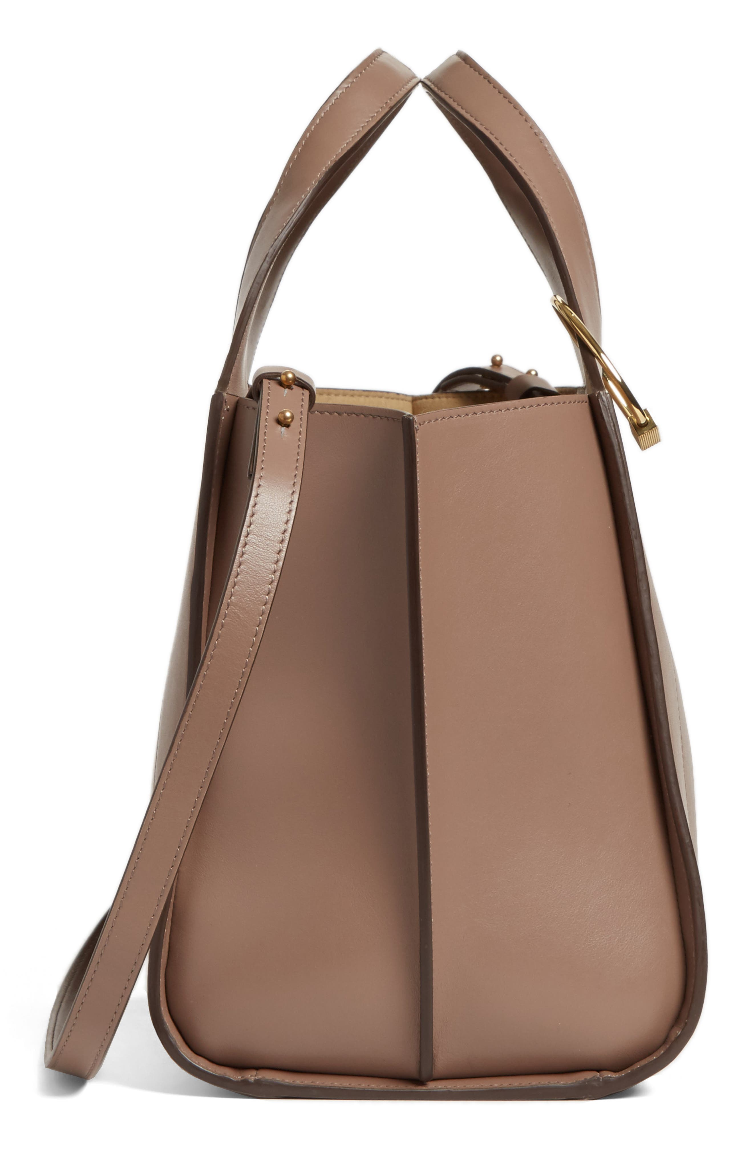 Alternate Image 5  - Victoria Beckham Small Newspaper Leather Tote