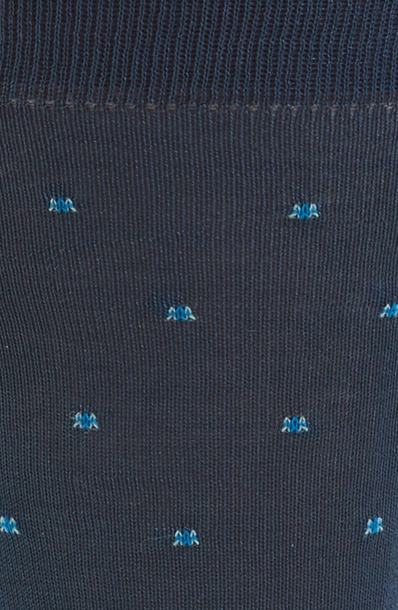 Balfour Dot Socks,                             Alternate thumbnail 2, color,                             Steel Blue