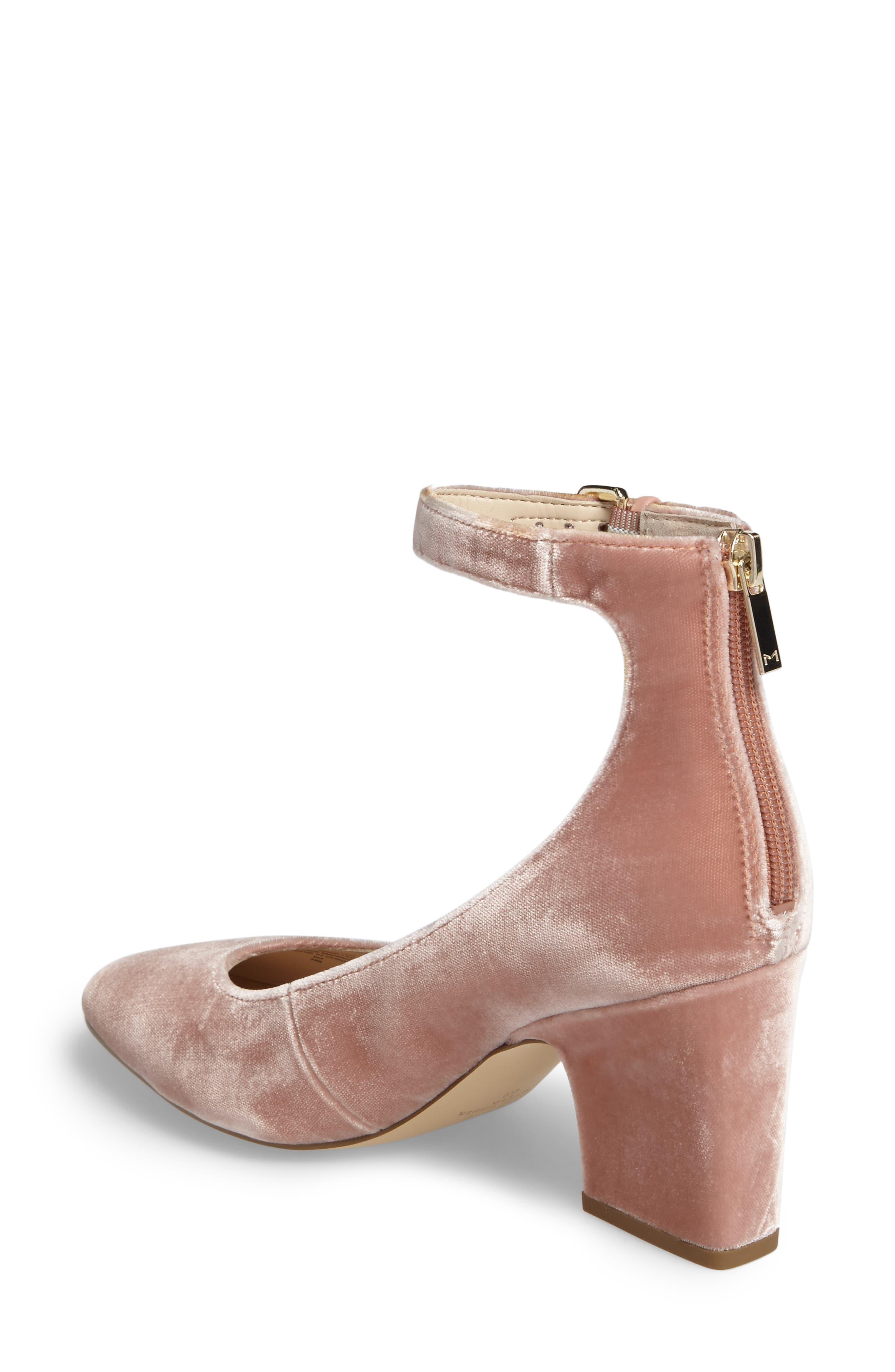 Anisy Ankle Strap Pump,                             Alternate thumbnail 2, color,                             Blush Velvet