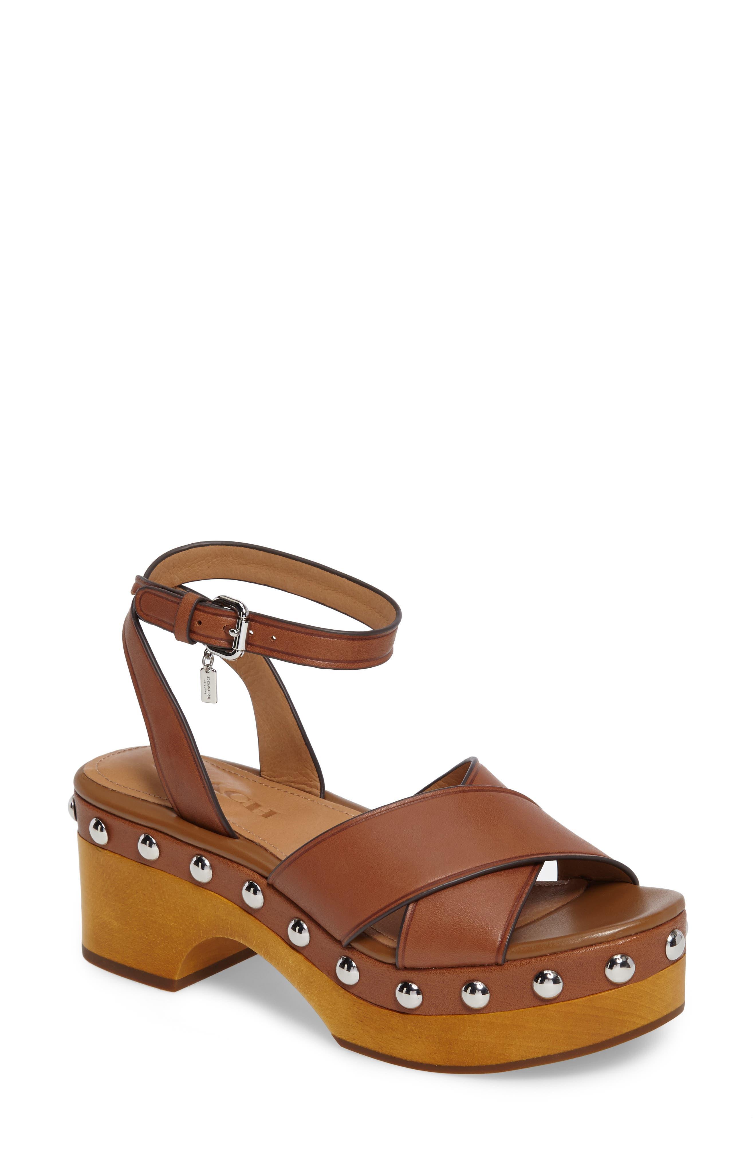 COACH Astor Clog Platform Sandal (Women)