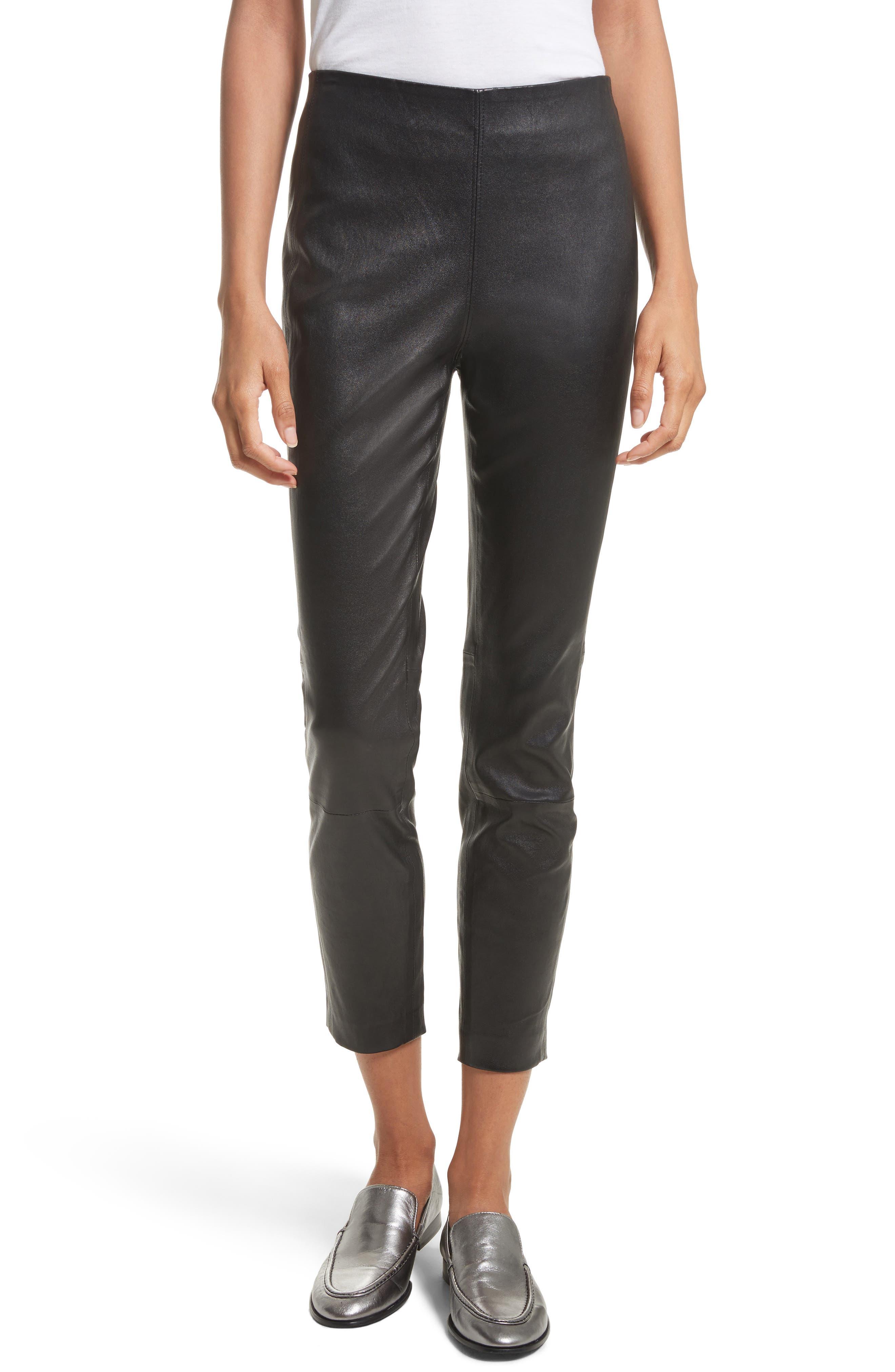 rag & bone Simone Lambskin Leather Ankle Pants