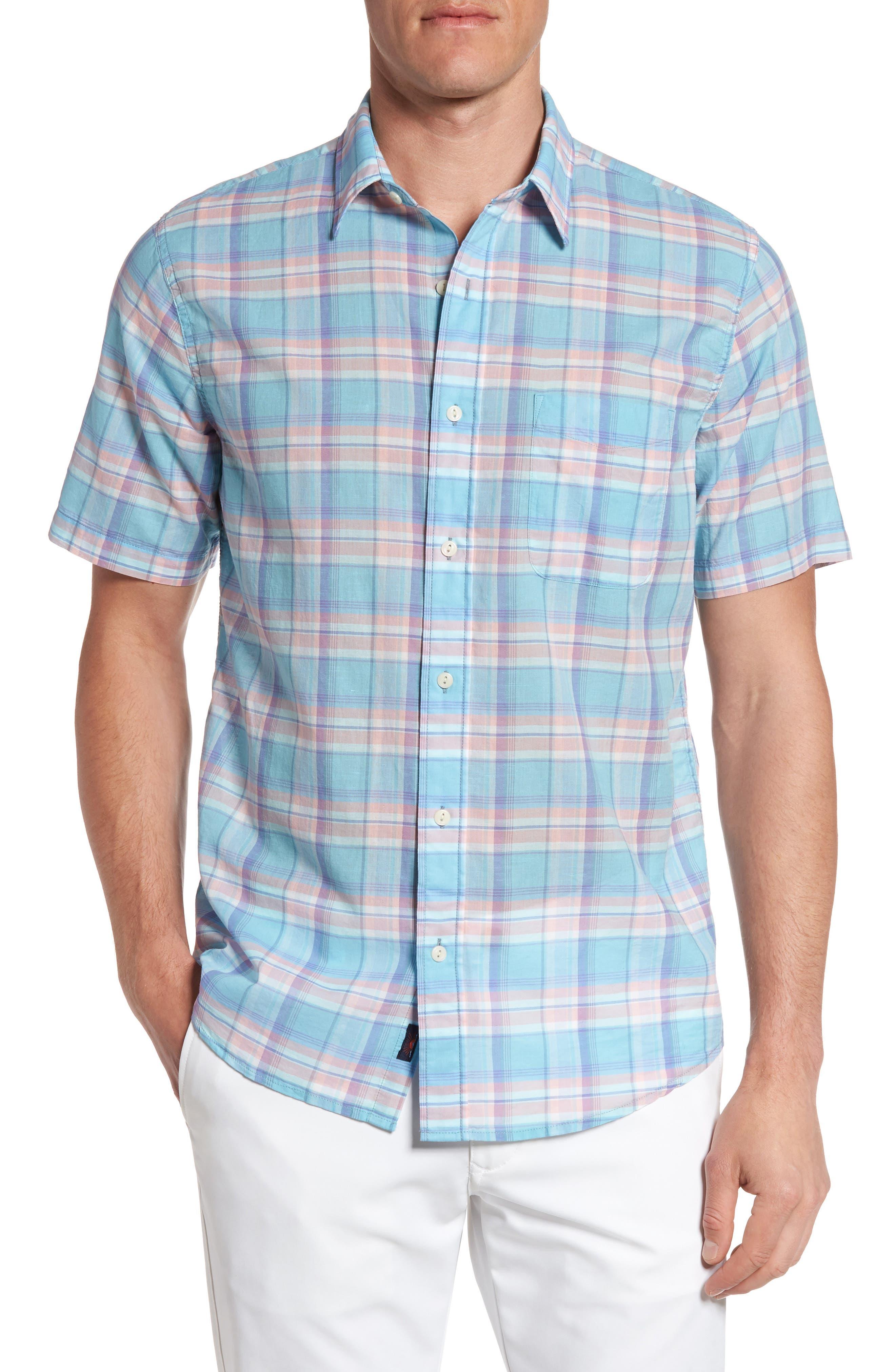 Faherty Ventura Summer Blend Plaid Sport Shirt