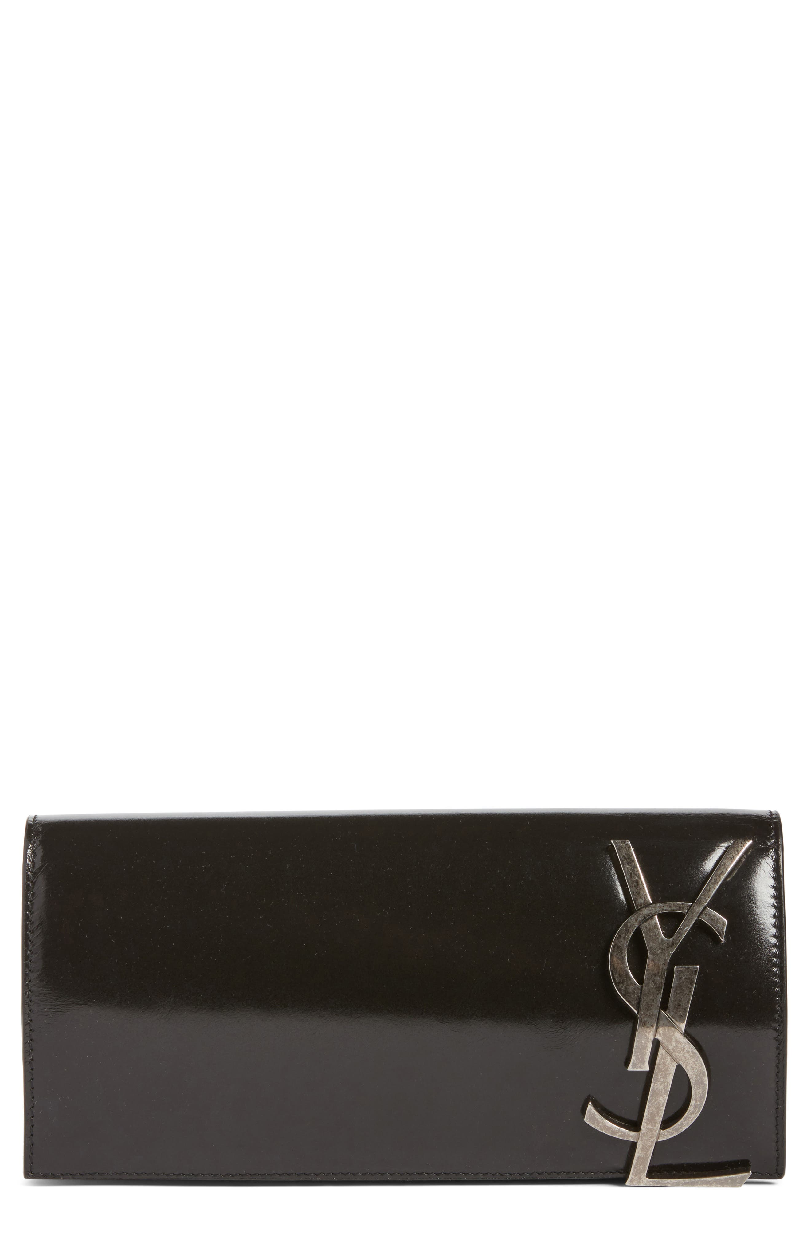 Saint Laurent Smoking Leather Clutch