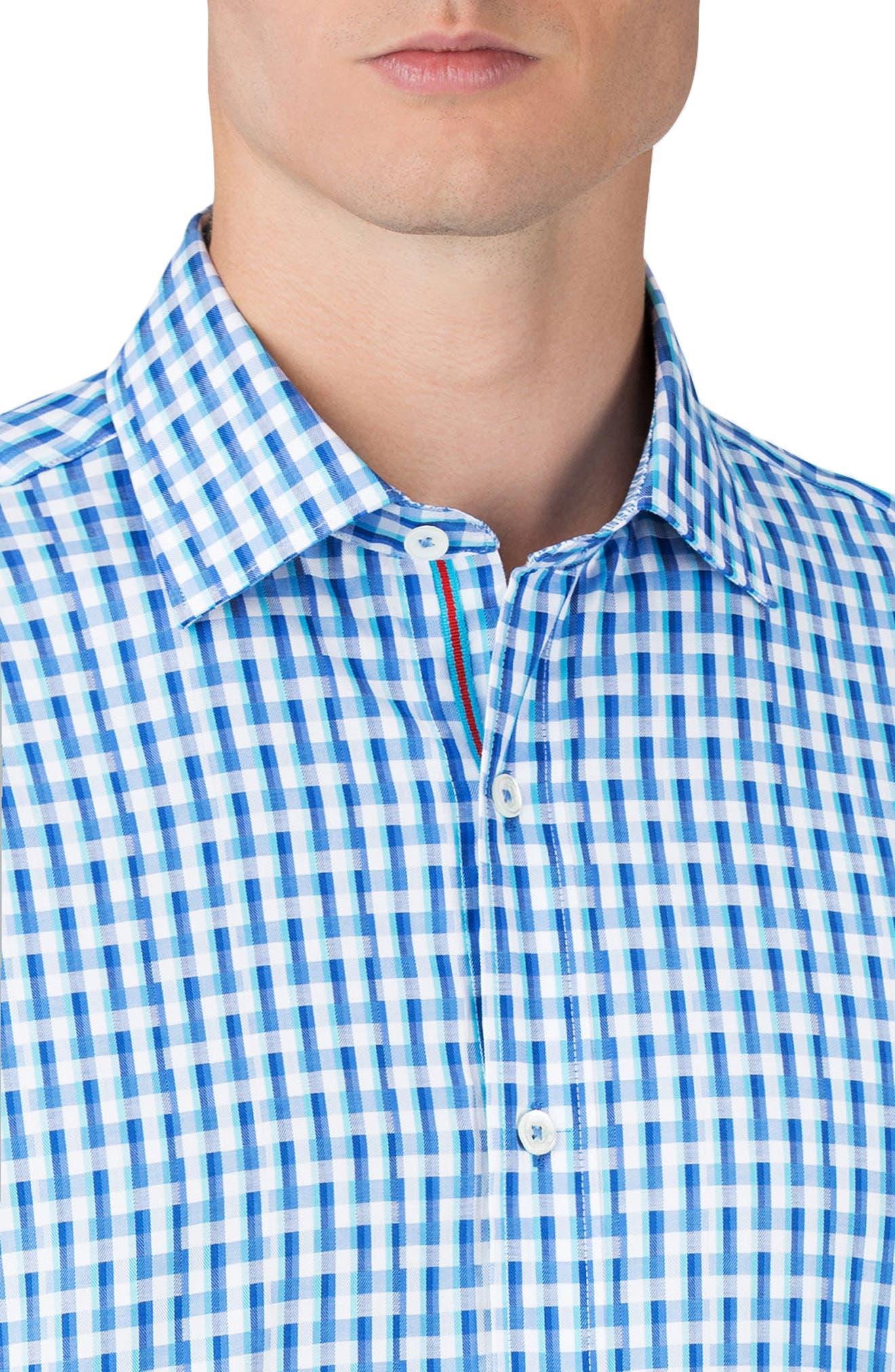 Shaped Fit Sport Shirt,                             Alternate thumbnail 3, color,                             Classic Blue
