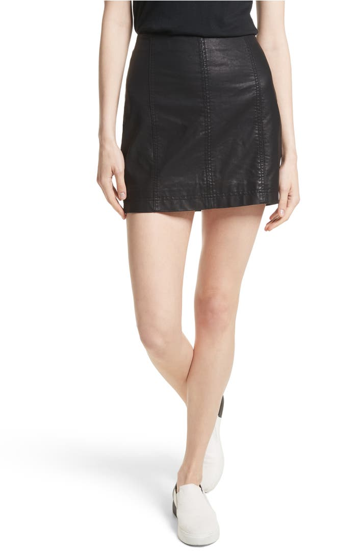Free People Modern Femme Faux Leather Miniskirt Nordstrom