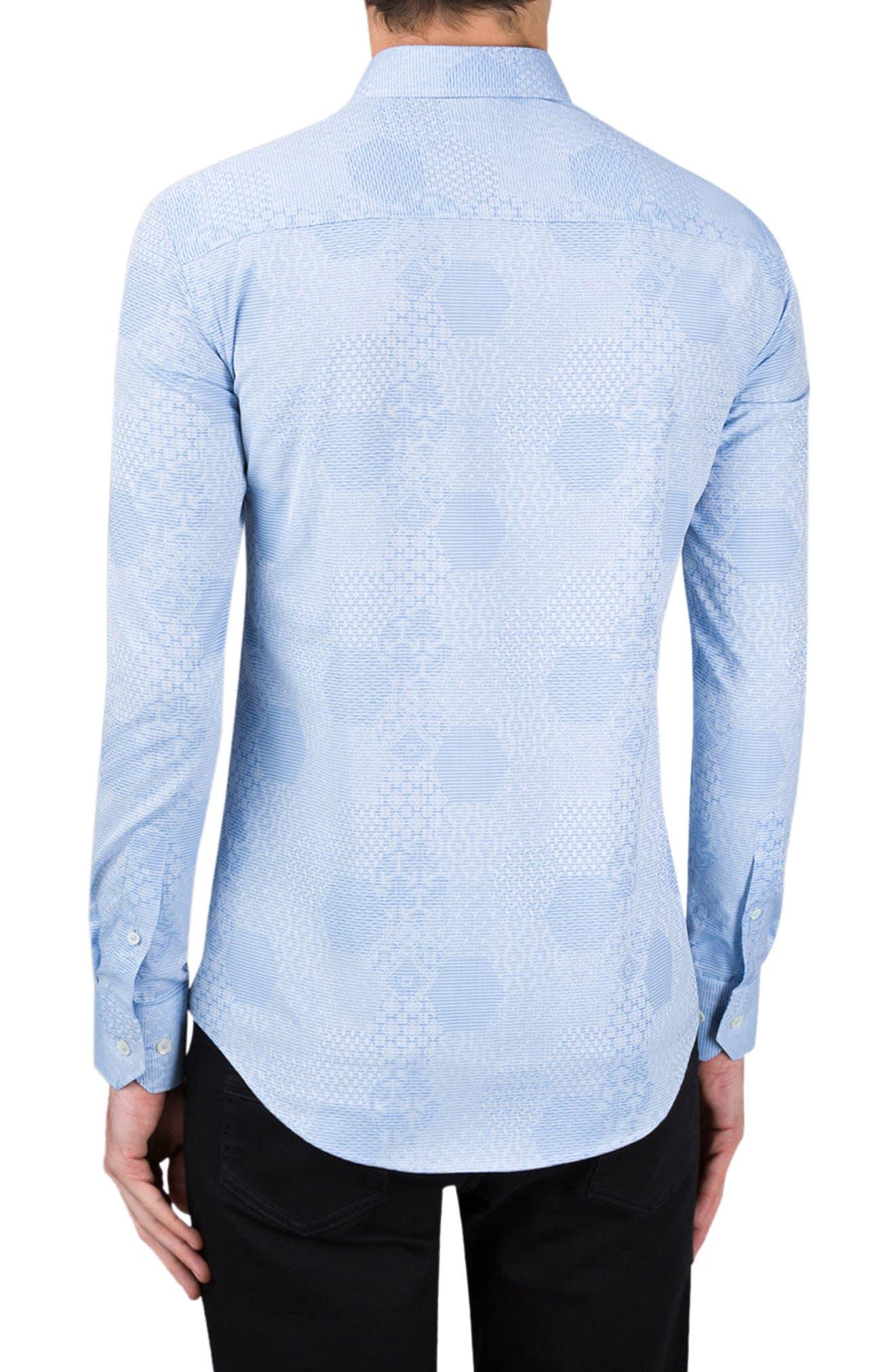 Alternate Image 2  - Bugatchi Shaped Fit Textured Sport Shirt