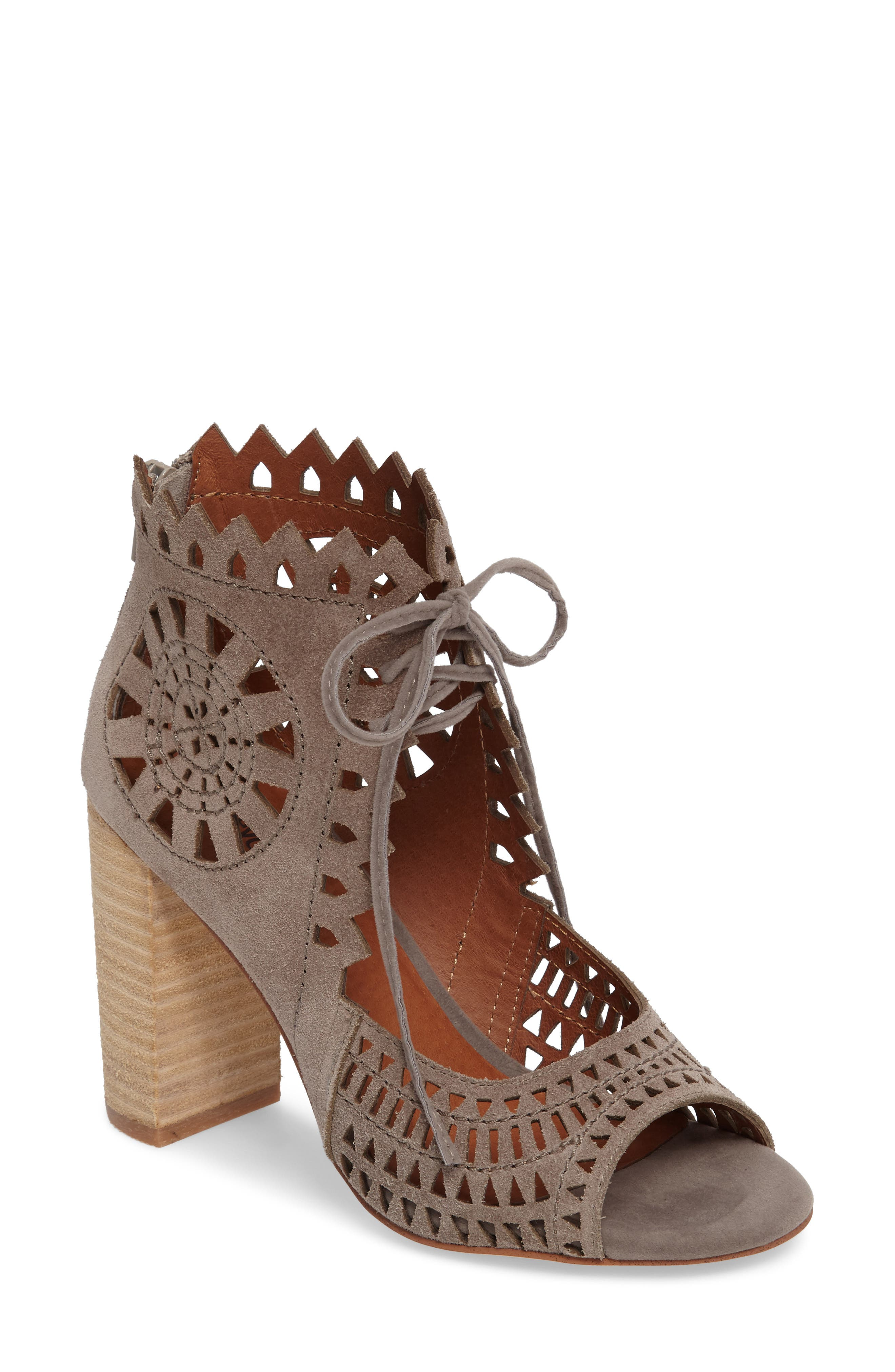 JEFFREY CAMPBELL Cordia Perforated Bootie Sandal