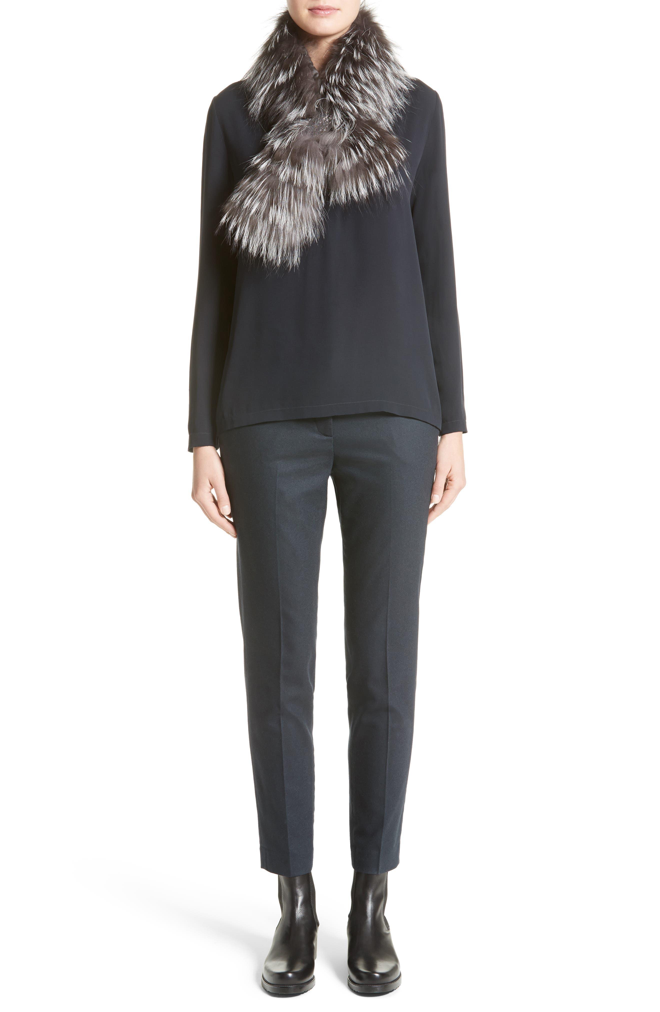 Alternate Image 7  - Fabiana Filippi Embellished Stretch Silk Blouse