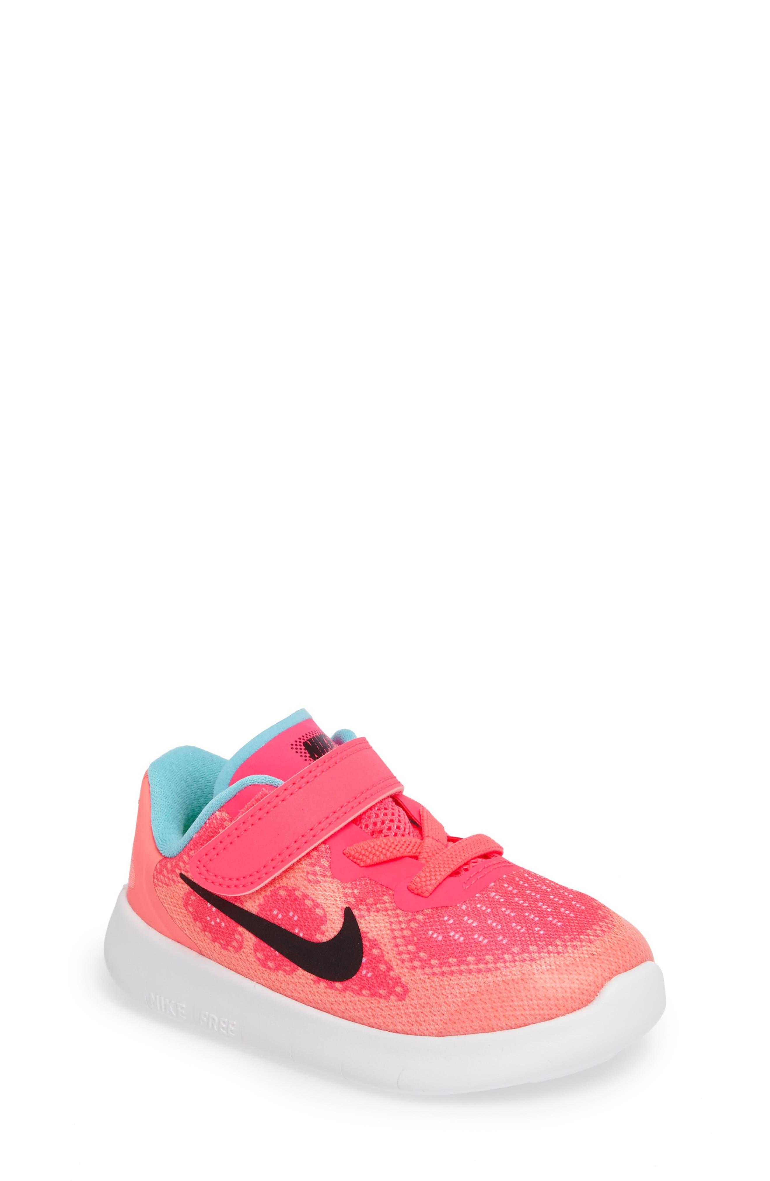 nike shoes for girls pink. nike free run 2017 sneaker (baby, walker, toddler \u0026 little shoes for girls pink