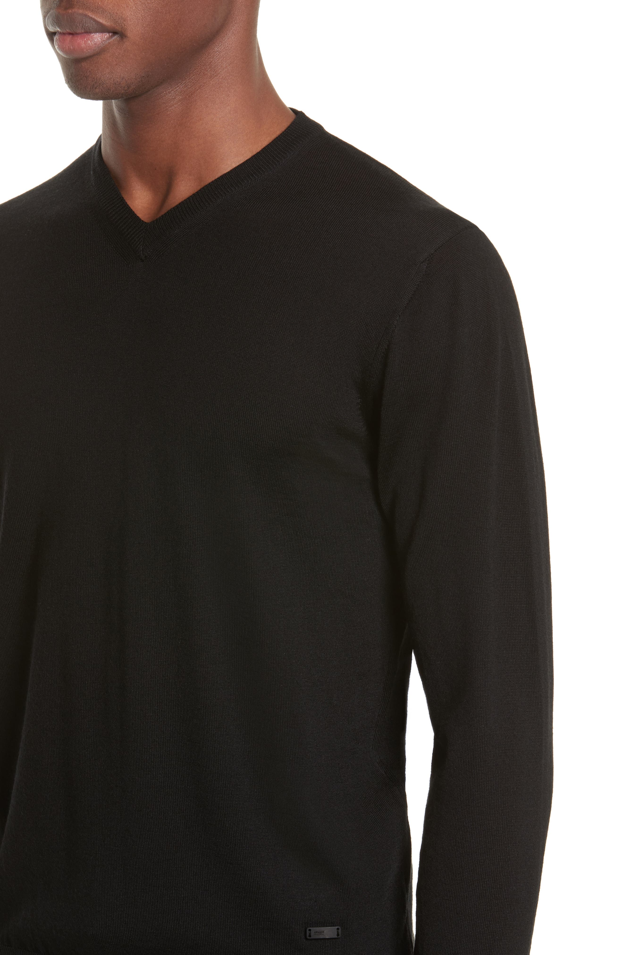 Alternate Image 4  - Armani Collezioni V-Neck Sweater