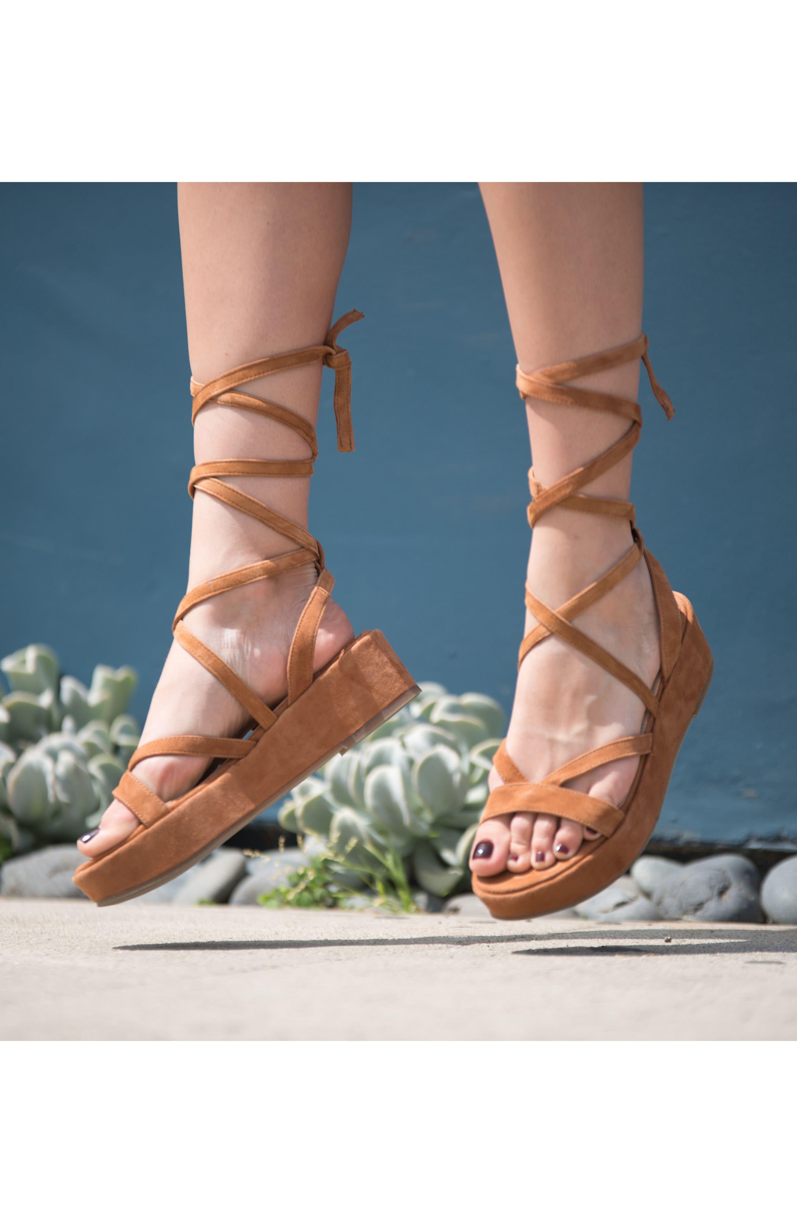 Keri Gladiator Platform Sandal,                             Alternate thumbnail 7, color,