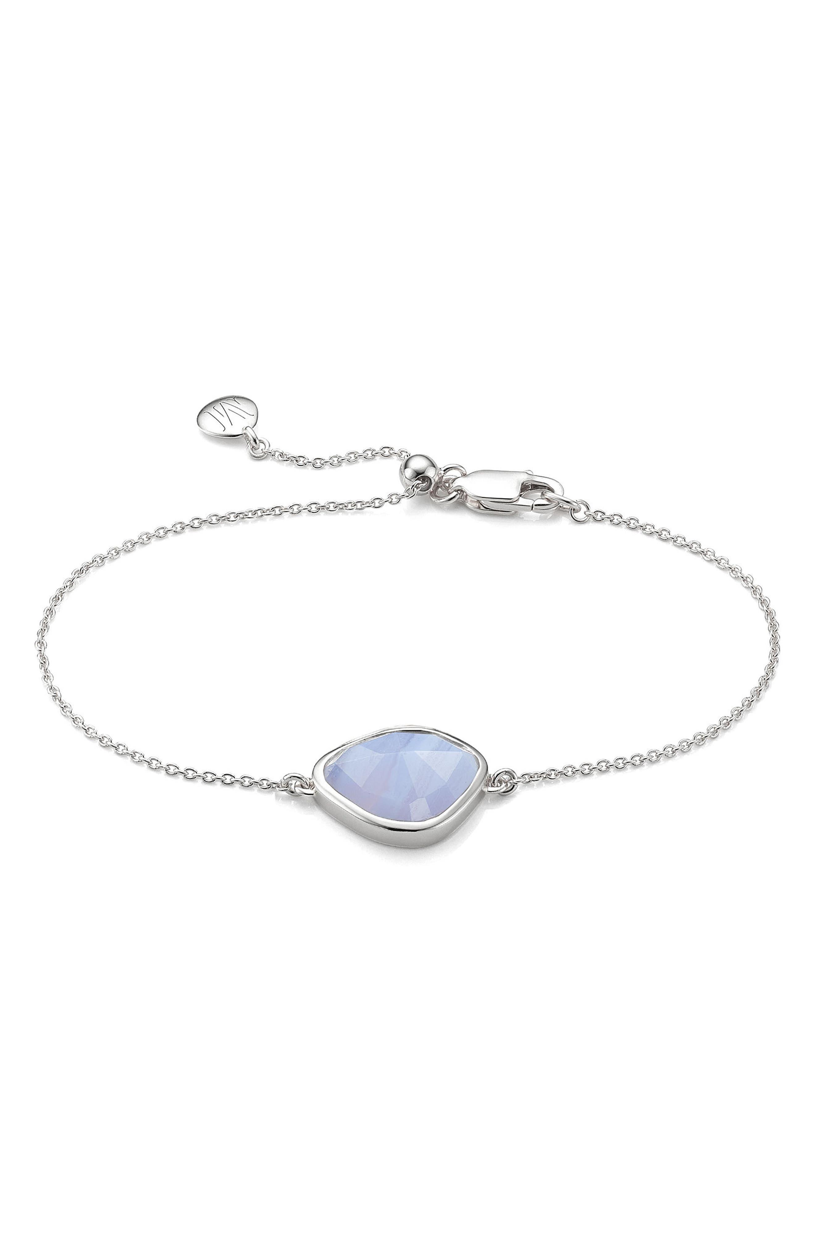 Siren Nugget Bracelet,                         Main,                         color, Silver/ Blue Lace Agate