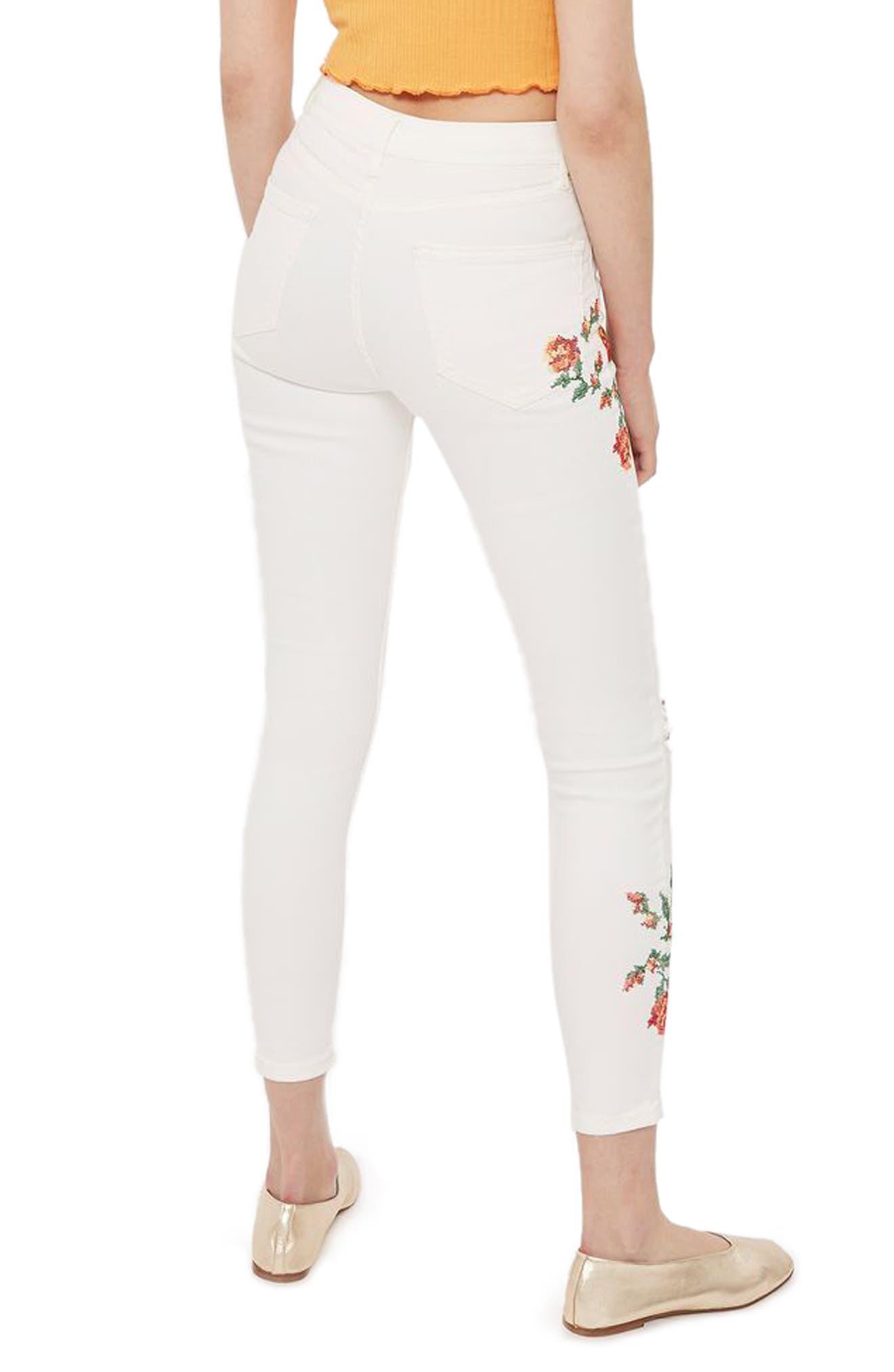 Alternate Image 3  - Topshop Jamie Embroidered Skinny Jeans (Regular & Petite)