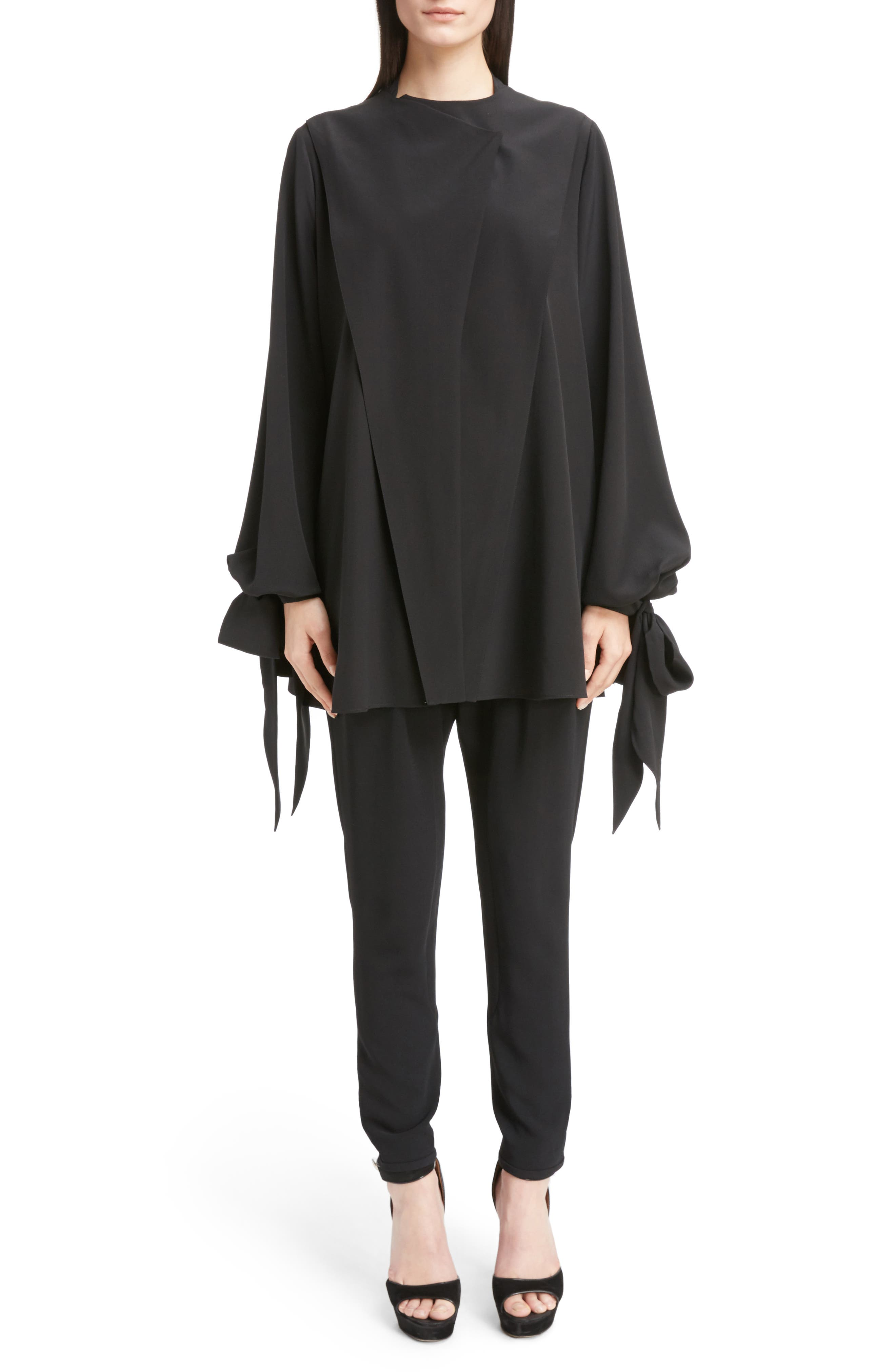 Alternate Image 6  - Givenchy Silk Drape Top