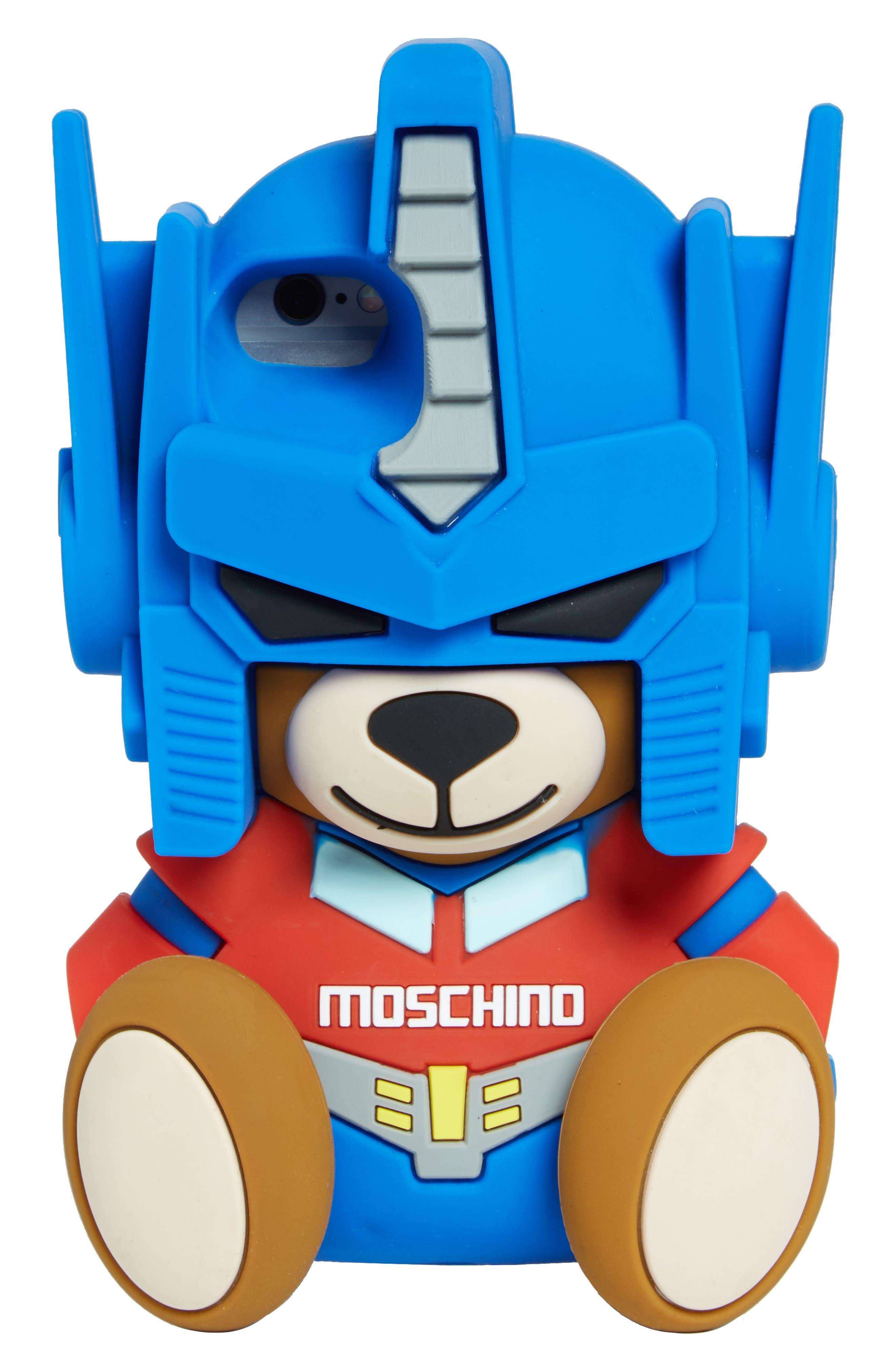 Transformer Bear iPhone 7 Case,                             Main thumbnail 1, color,                             Blue Multi