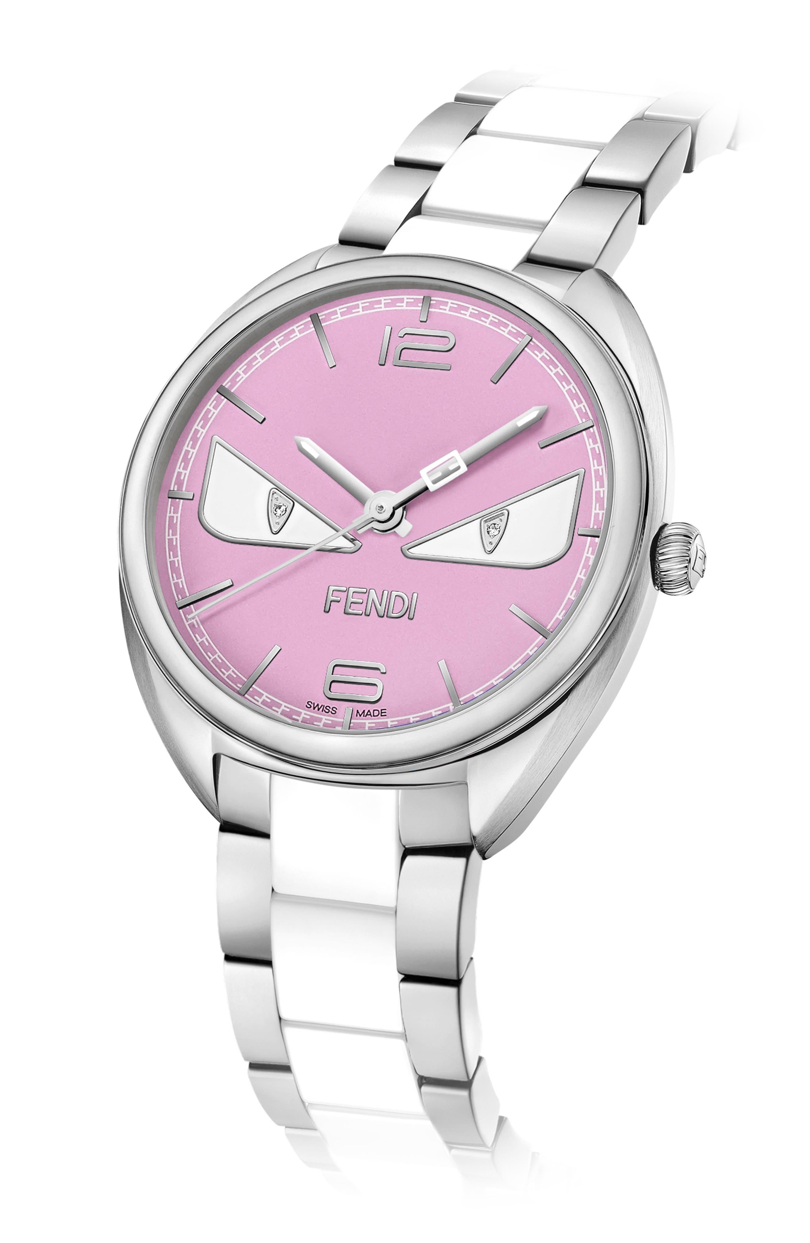 Alternate Image 2  - Fendi Momento Bug Bracelet Watch, 34mm