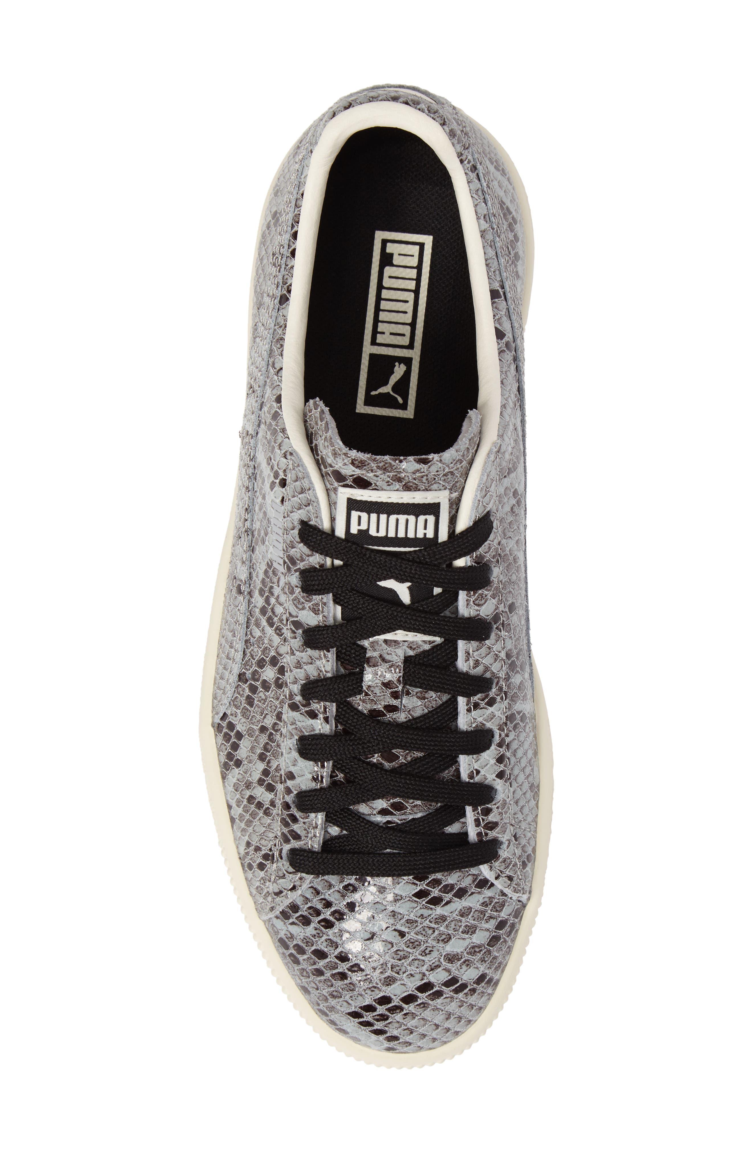 Clyde Sneaker,                             Alternate thumbnail 5, color,                             Puma Silver