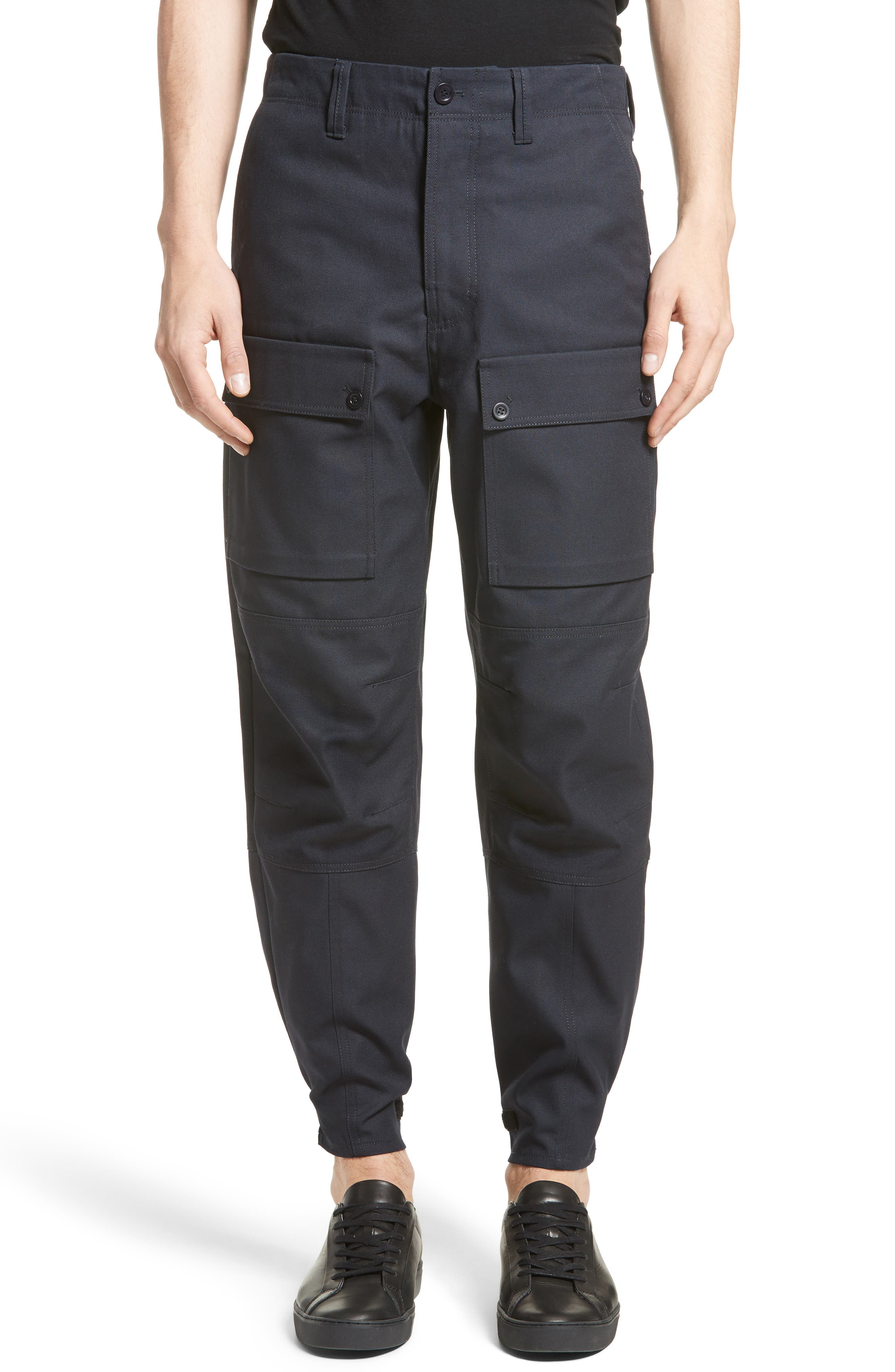 Abbi Twill Cargo Pants,                         Main,                         color, Navy