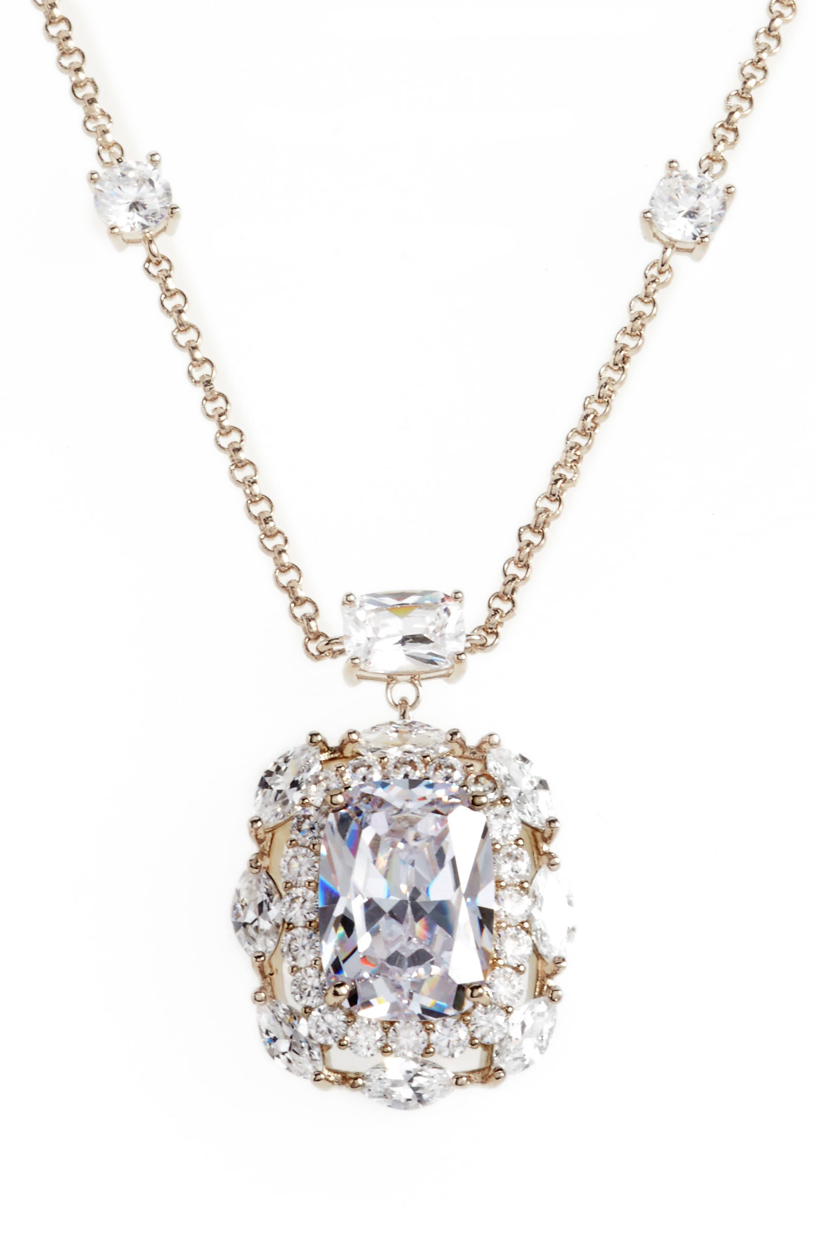 Main Image - Nina Crystal Pendant Necklace