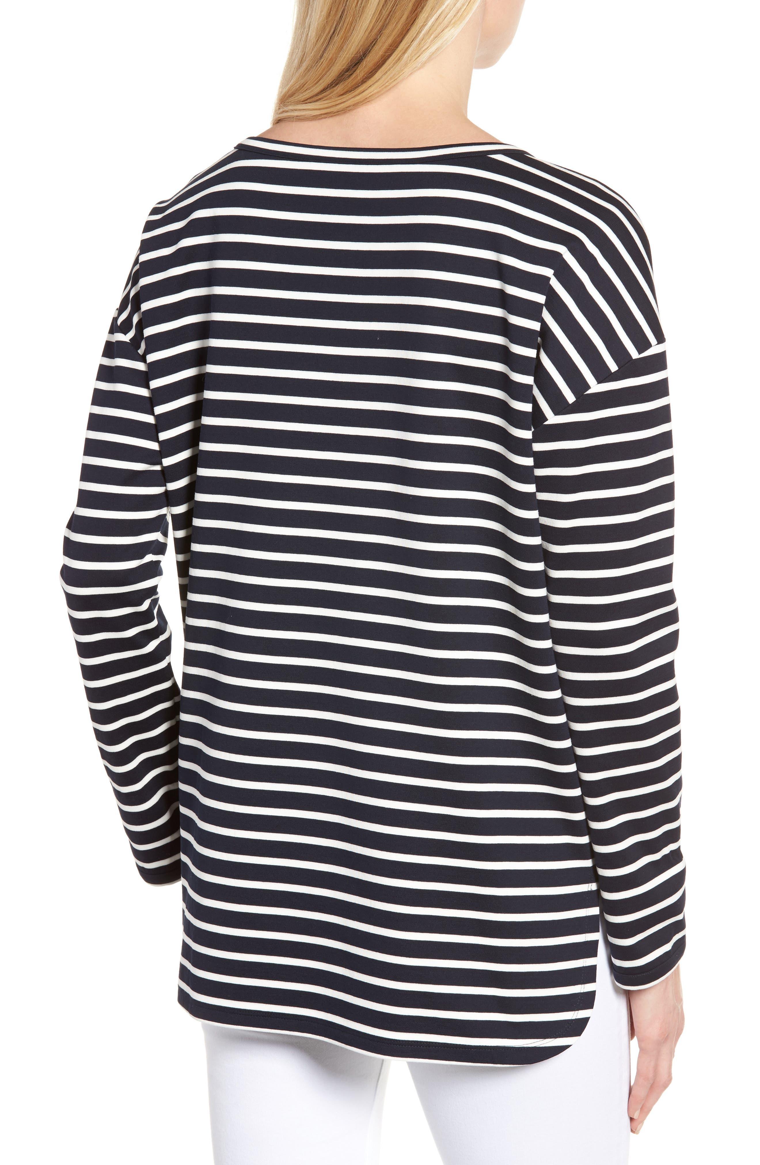Alternate Image 2  - Nordstrom Signature Side Zip Stripe Sweatshirt
