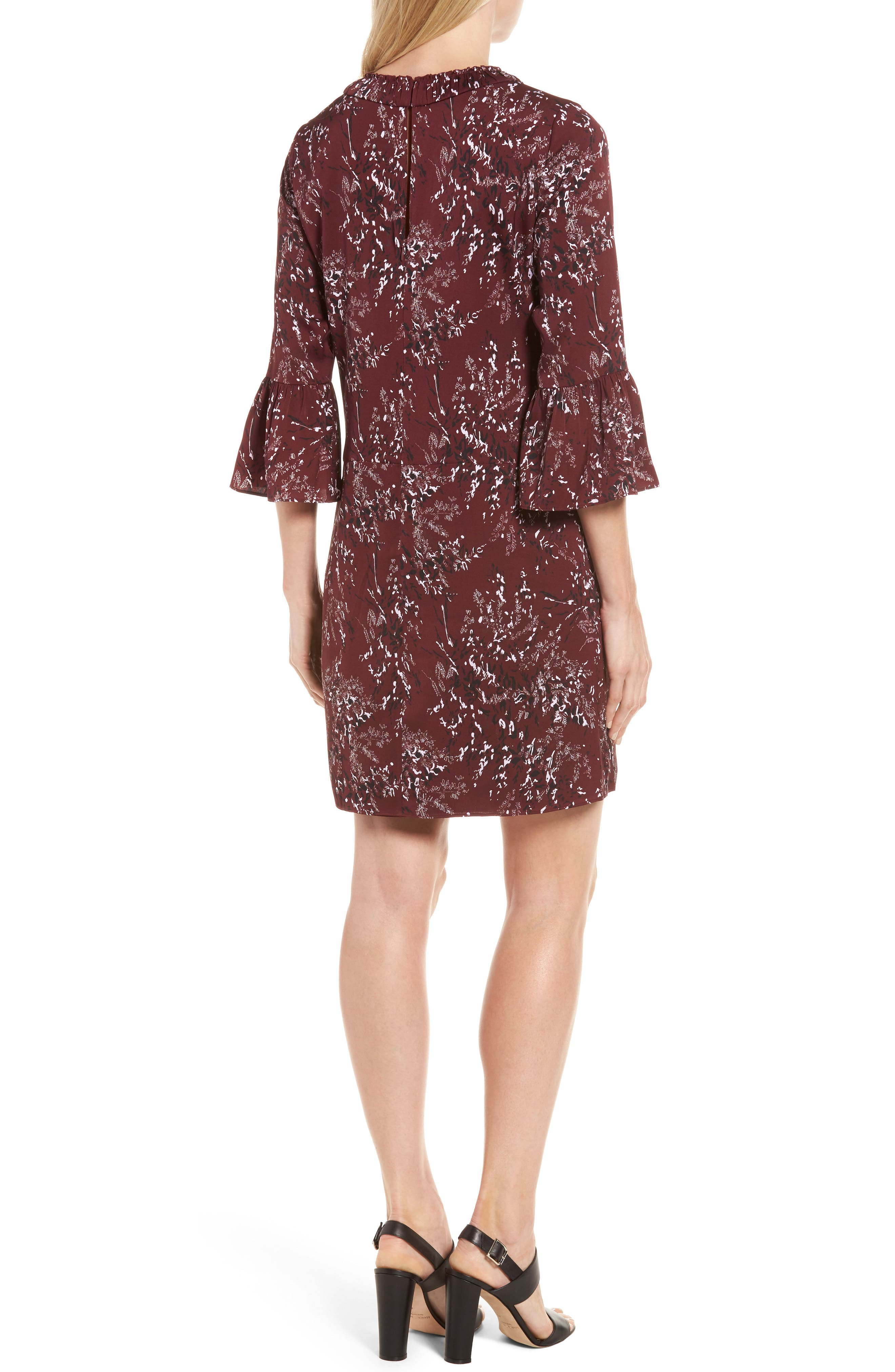 Alternate Image 2  - Nordstrom Signature Floral Print Stretch Silk Minidress
