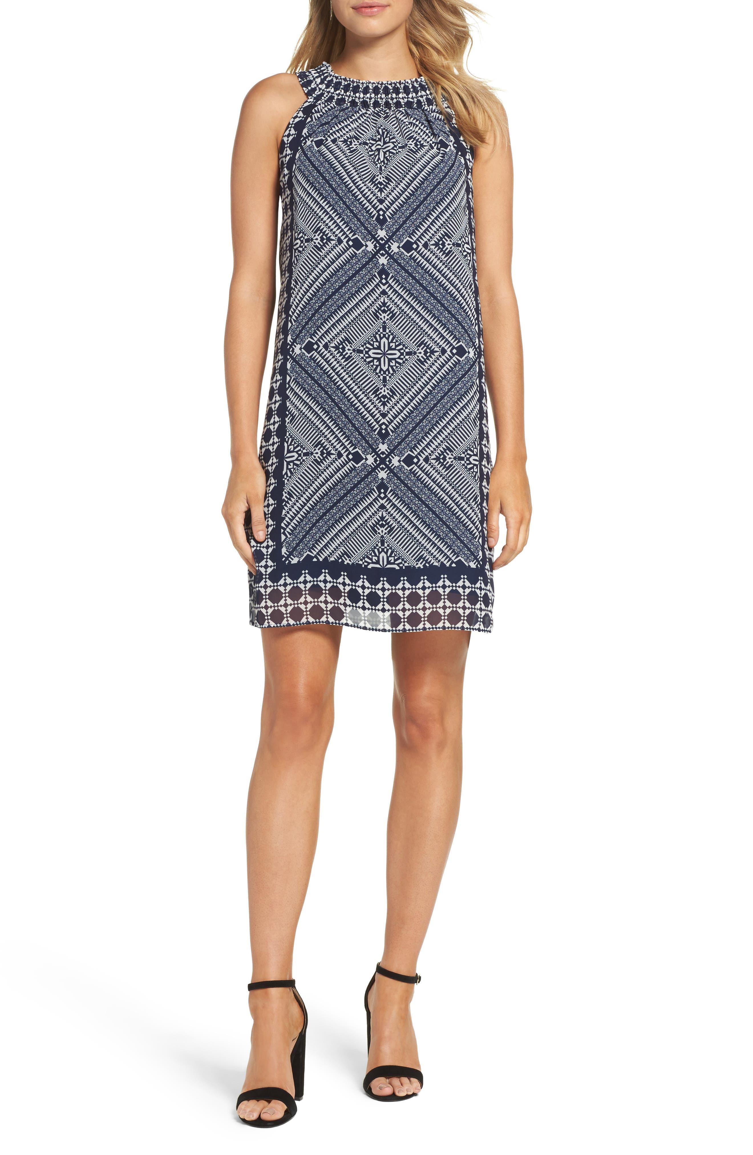 Taylor Dresses Scarf Print Shift Dress