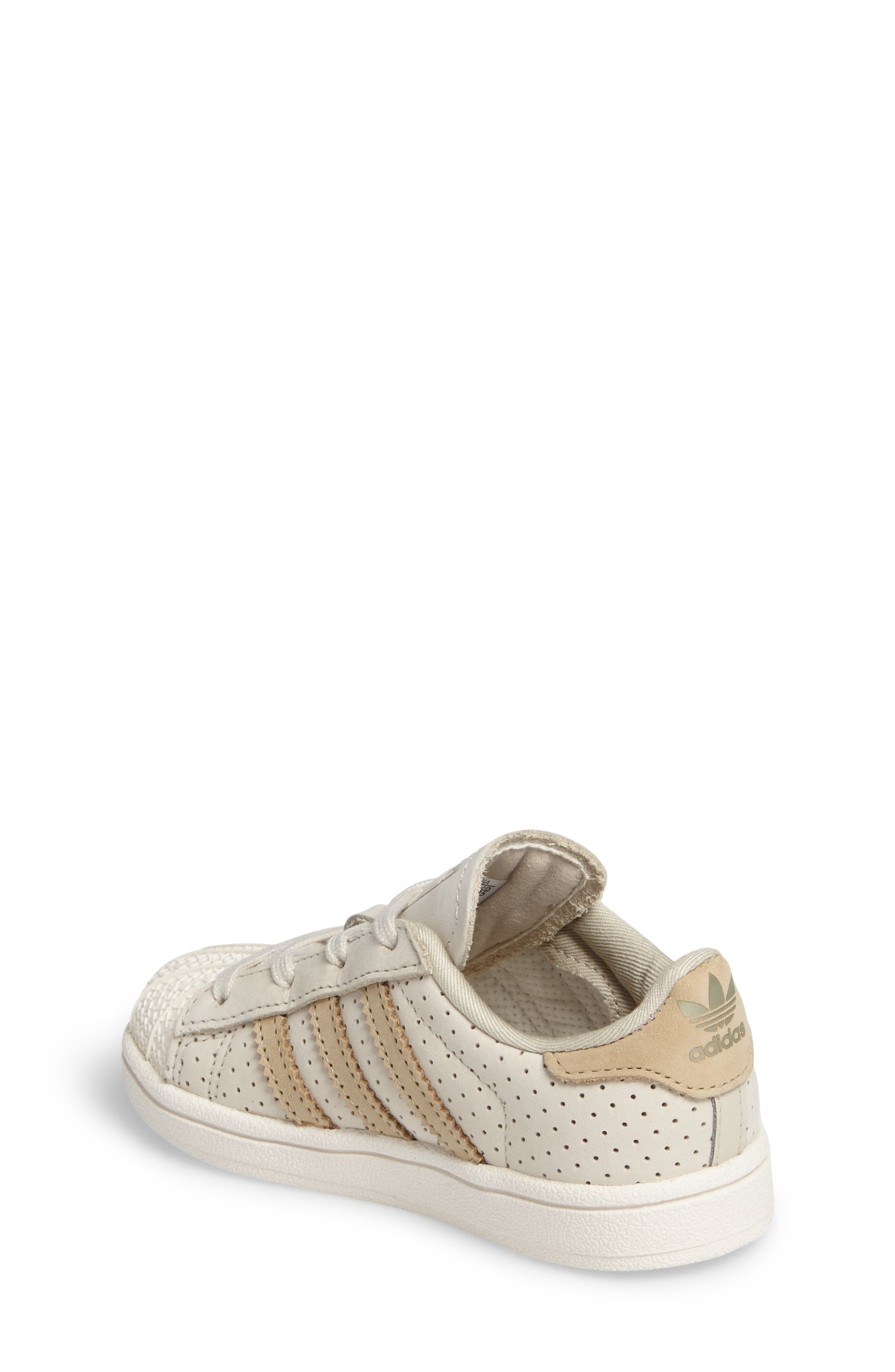 Alternate Image 2  - adidas Stan Smith Fashion I Perforated Sneaker (Baby, Walker, Toddler & Little Kid)