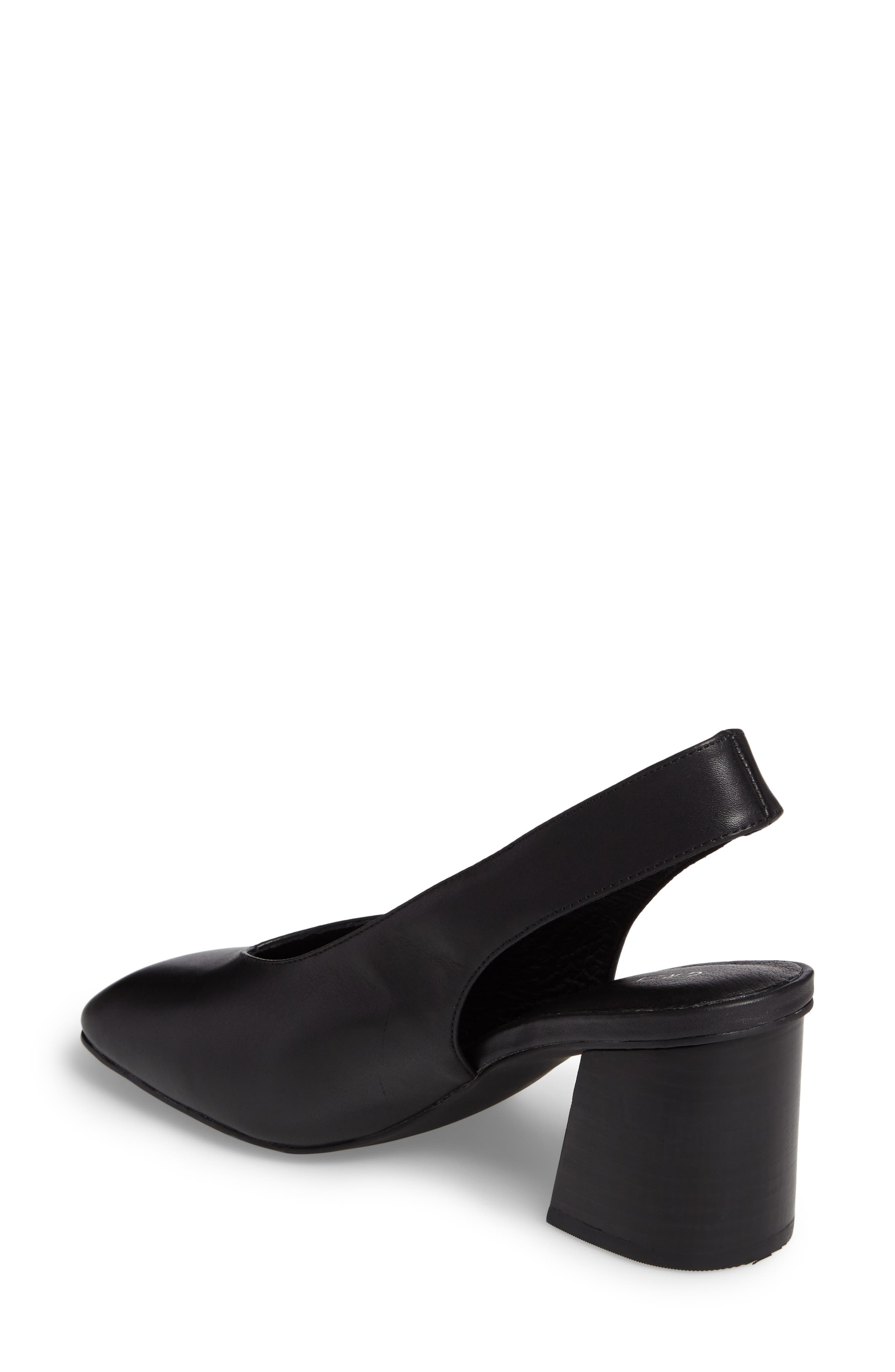 Sydney Square-Toe Slingback Pump,                             Alternate thumbnail 2, color,                             Black