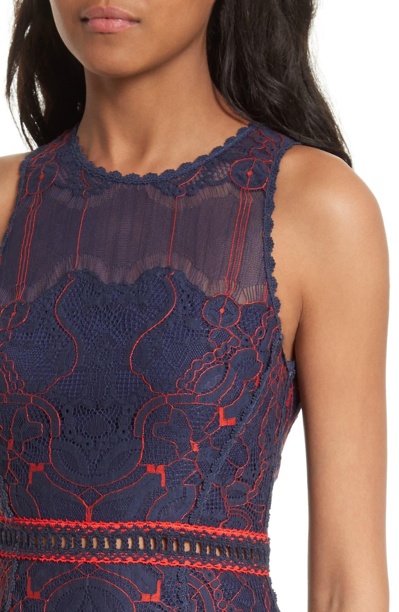 Alternate Image 4  - Jonathan Simkhai Lace Ruffle Hem Dress