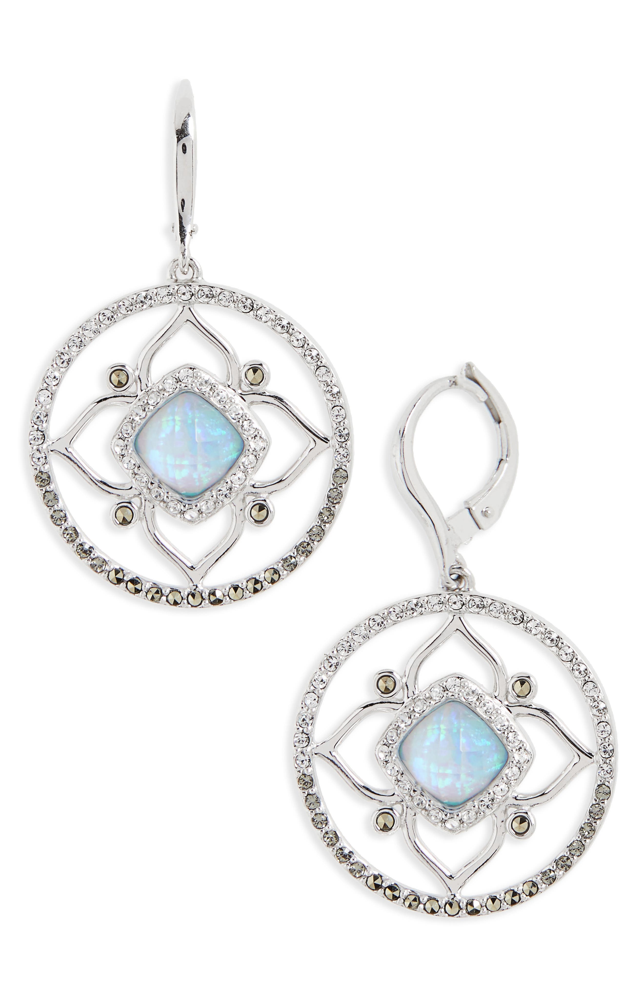 Main Image - Judith Jack Tropical Touches Flower Drop Earrings