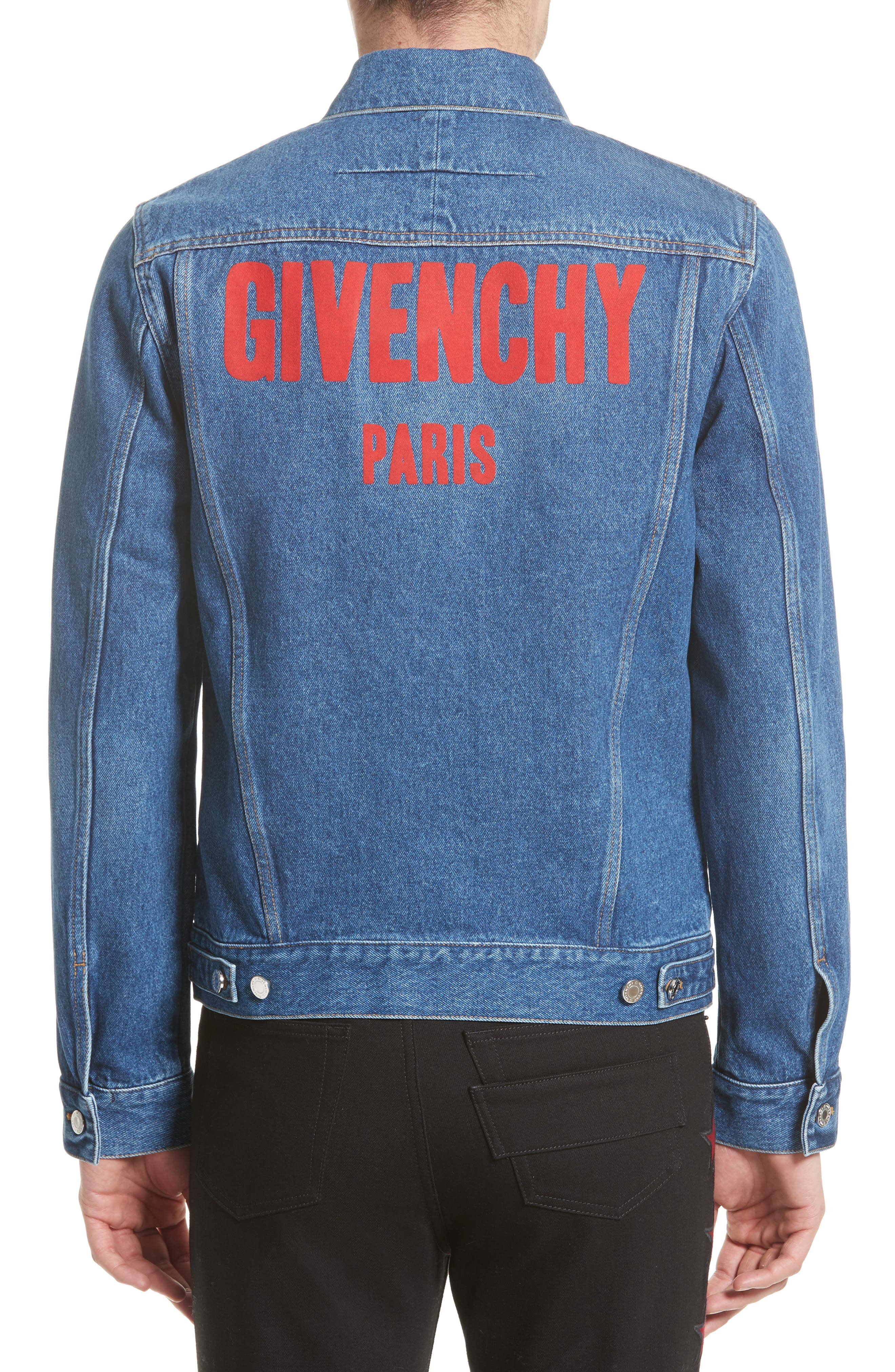 Logo Jean Jacket,                             Alternate thumbnail 2, color,                             Blue